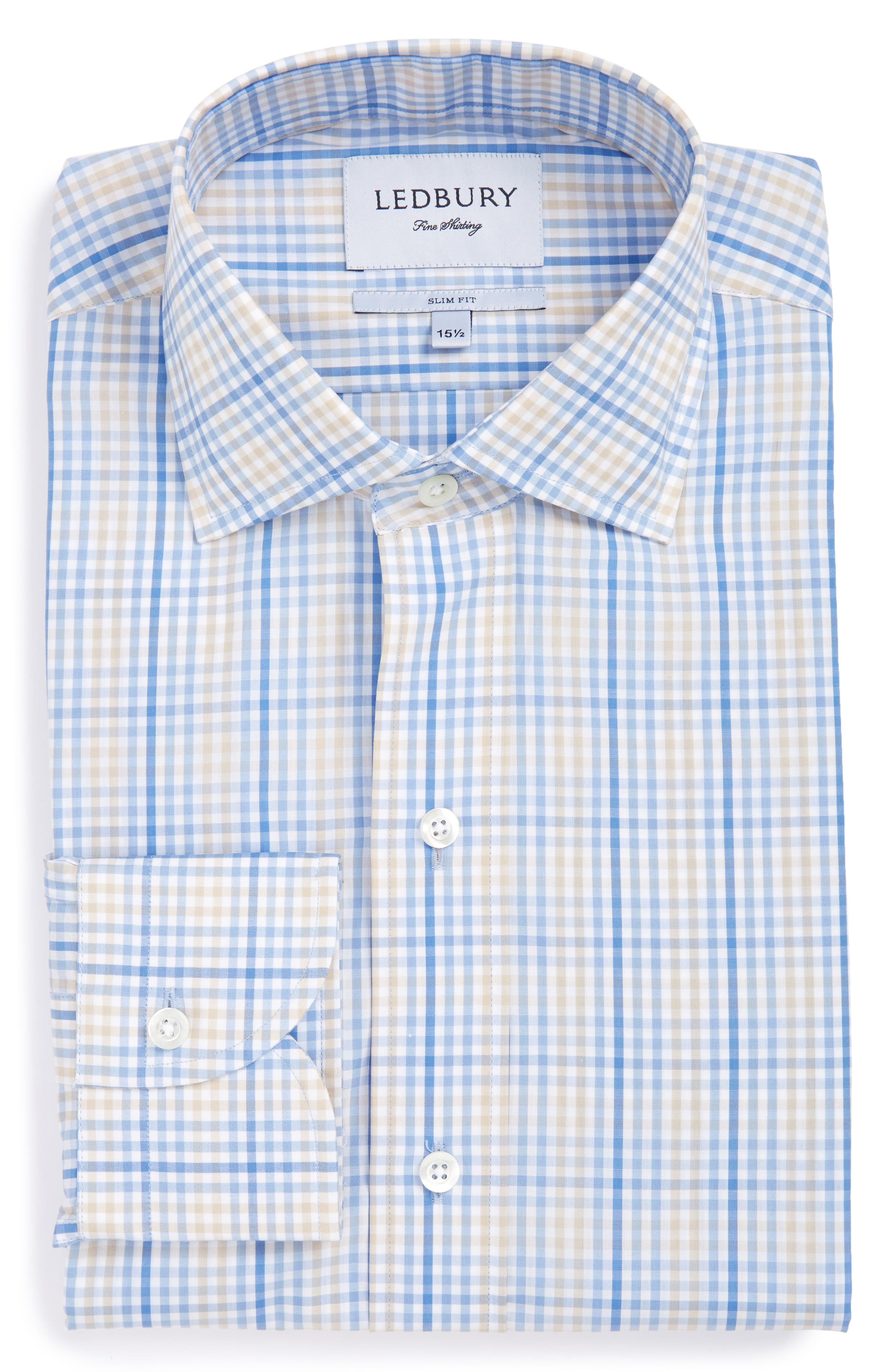 LEDBURY The Hardeman Check Slim Fit Dress Shirt