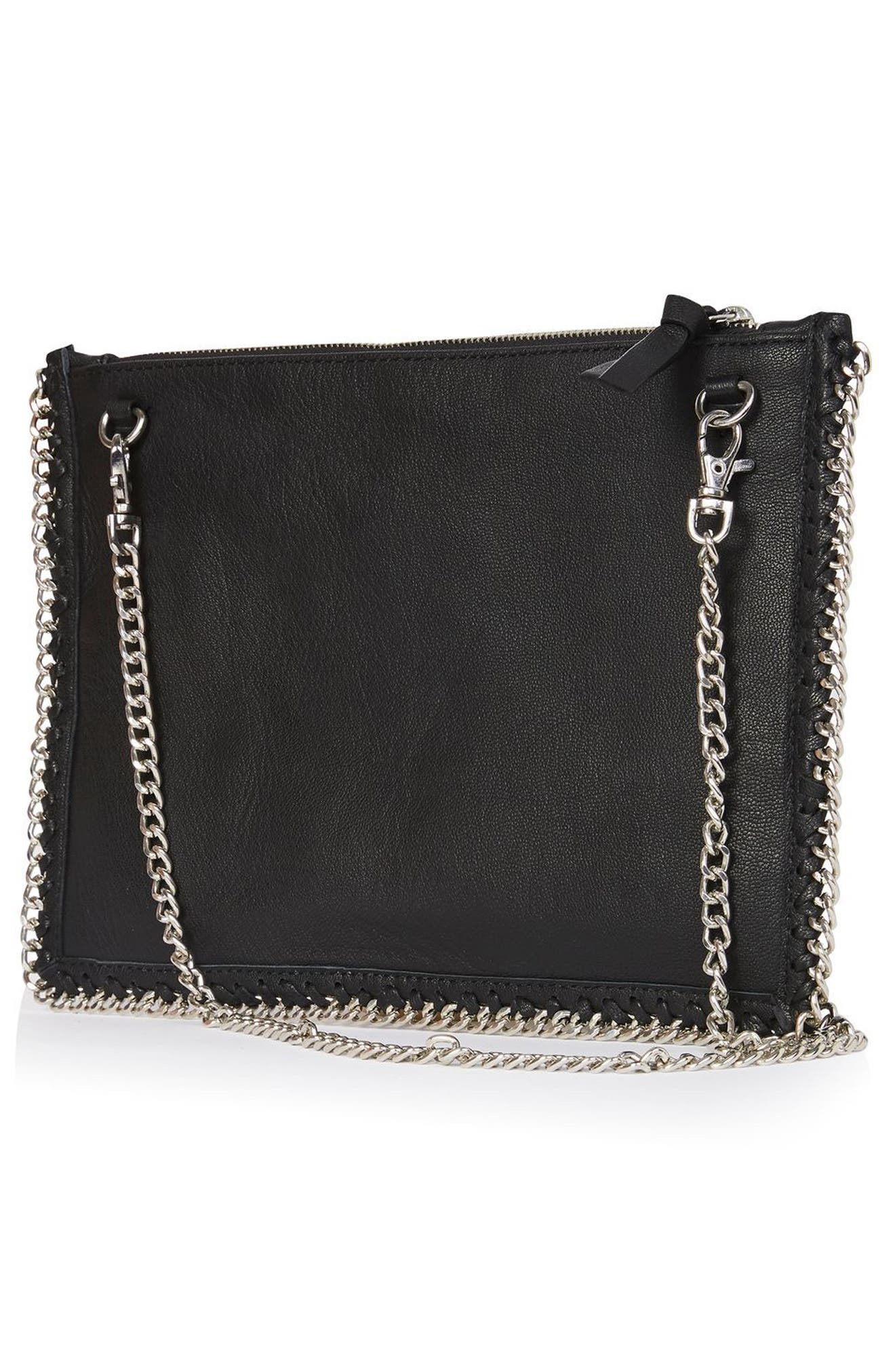 Alternate Image 3  - Topshop Oto Embroidered Leather Crossbody Bag