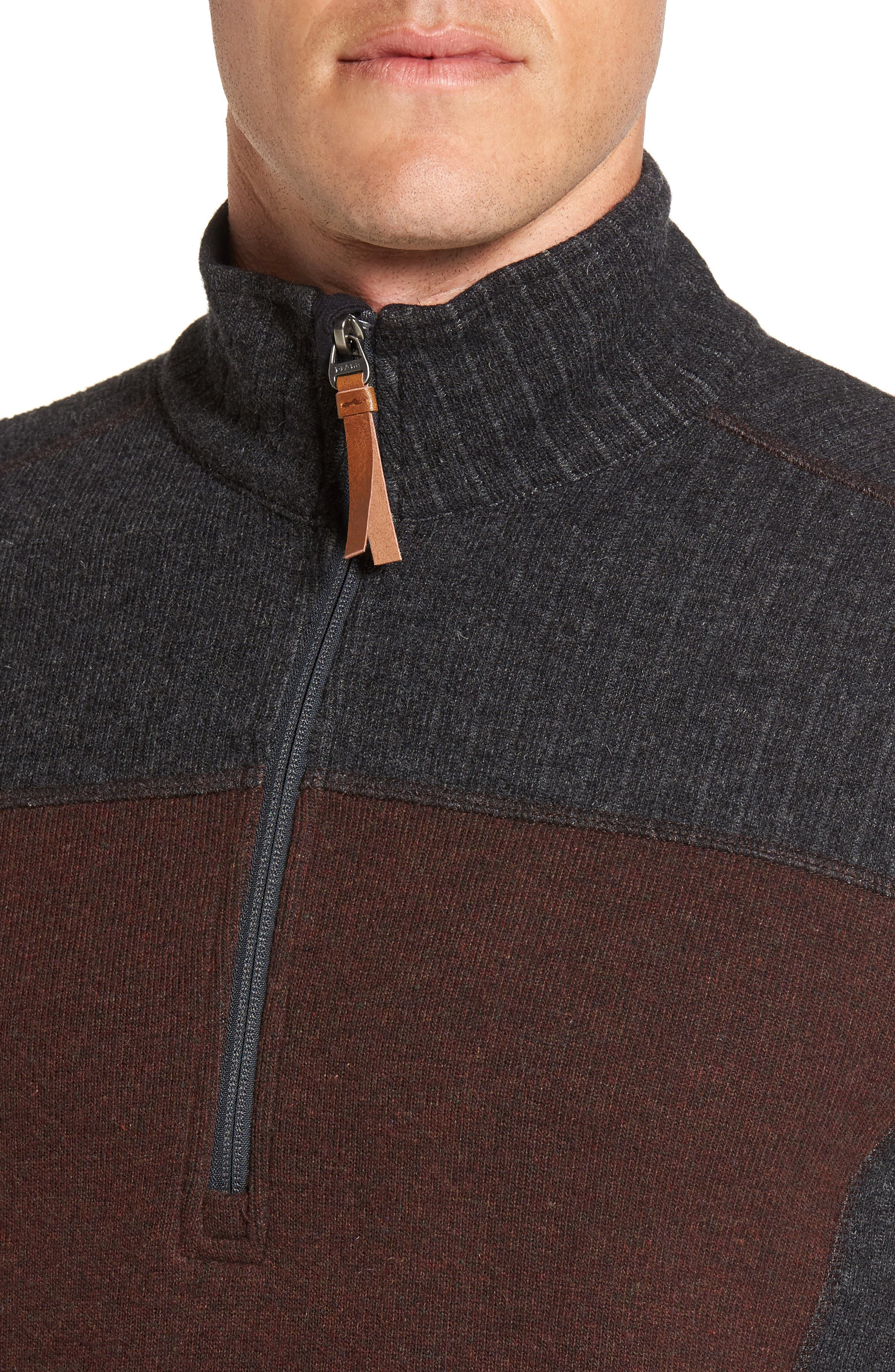 Wentworth Quarter Zip Pullover,                             Alternate thumbnail 4, color,                             Cocoa