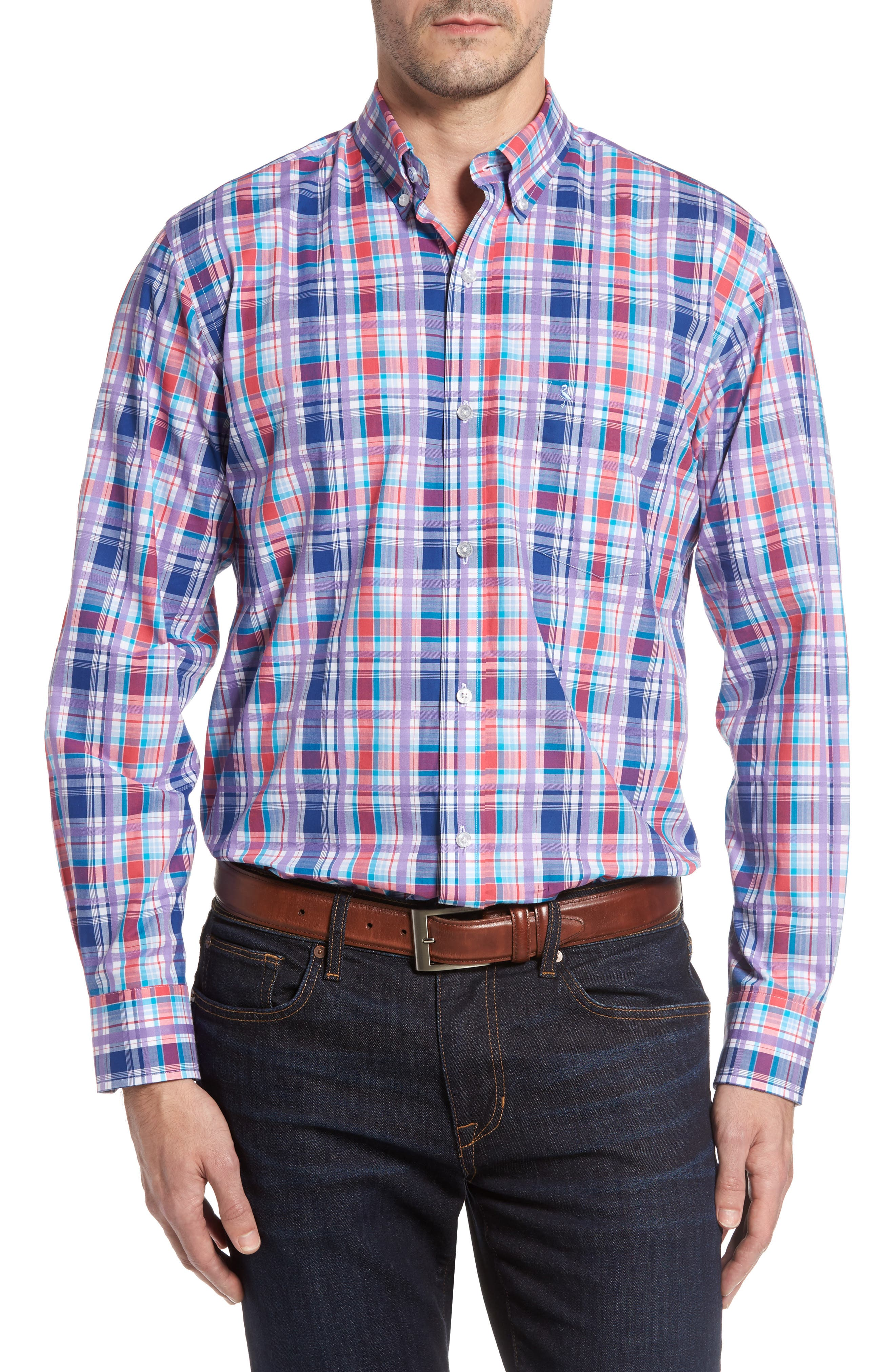 TailorByrd Alder Plaid Sport Shirt (Big & Tall)