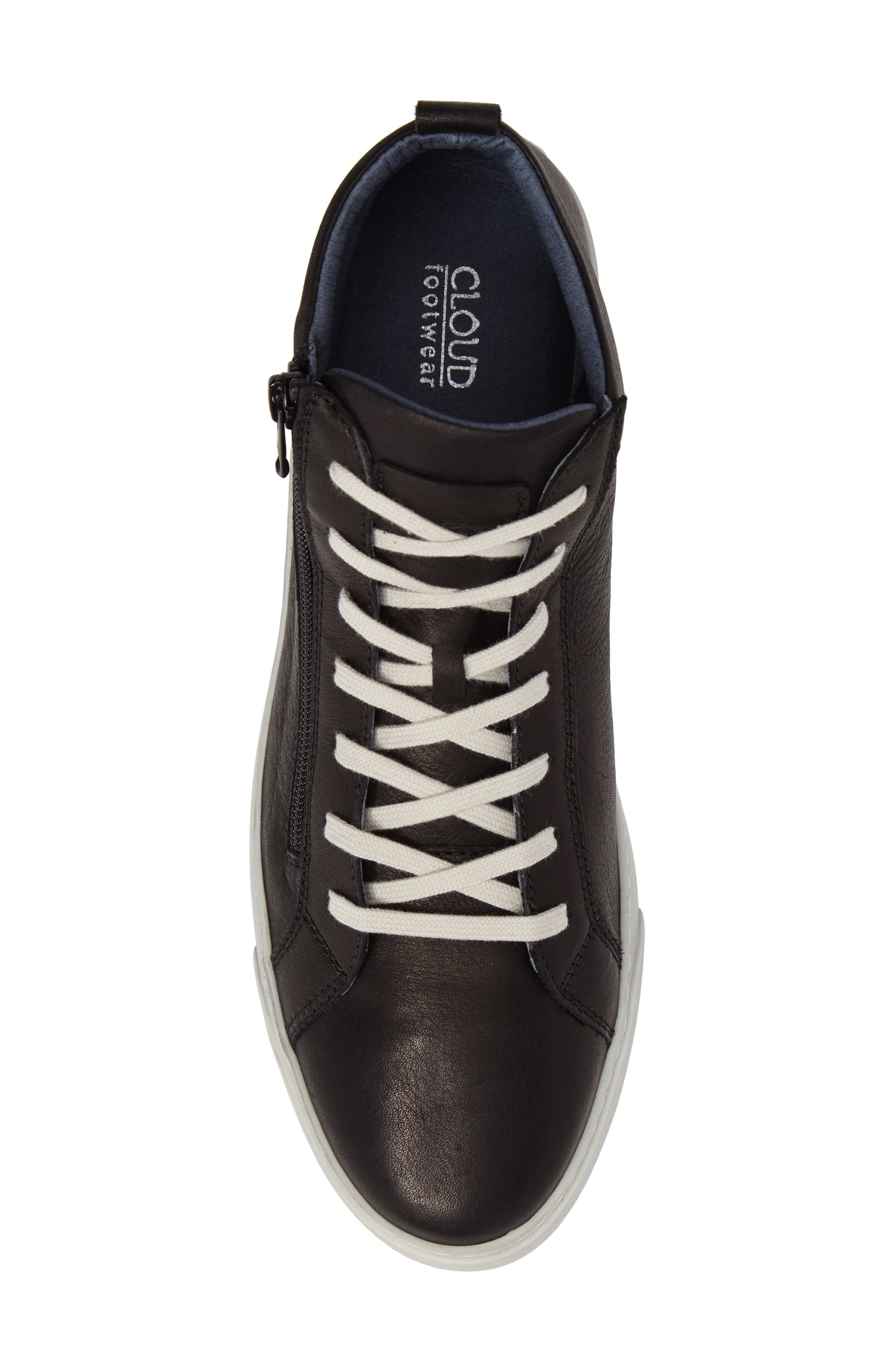 Irwin Mid Top Sneaker,                             Alternate thumbnail 5, color,                             Black Leather