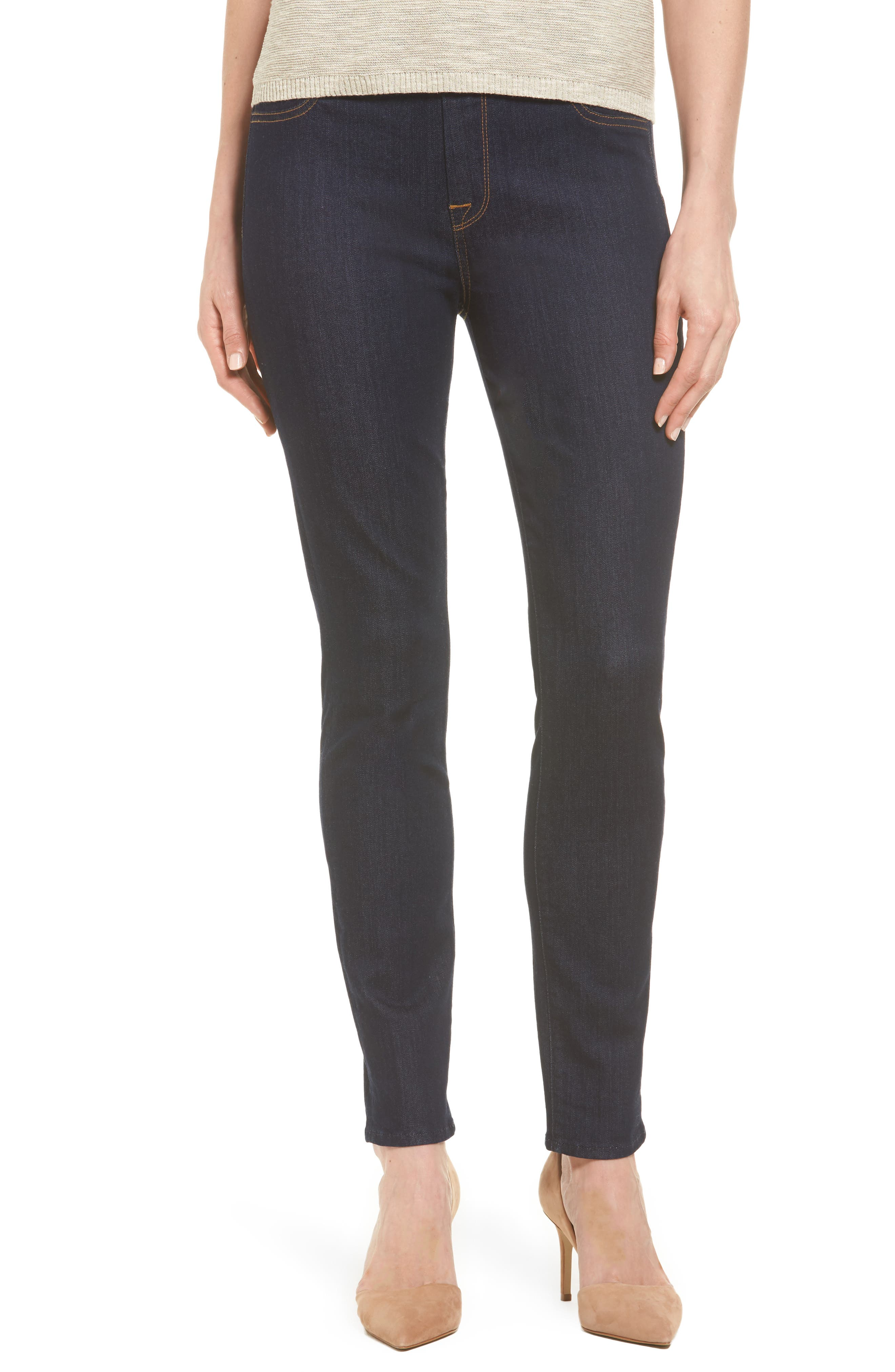 Alternate Image 1 Selected - Jen7 Comfort Stretch Denim Skinny Jeans (Riche Touch Rinsed Night)