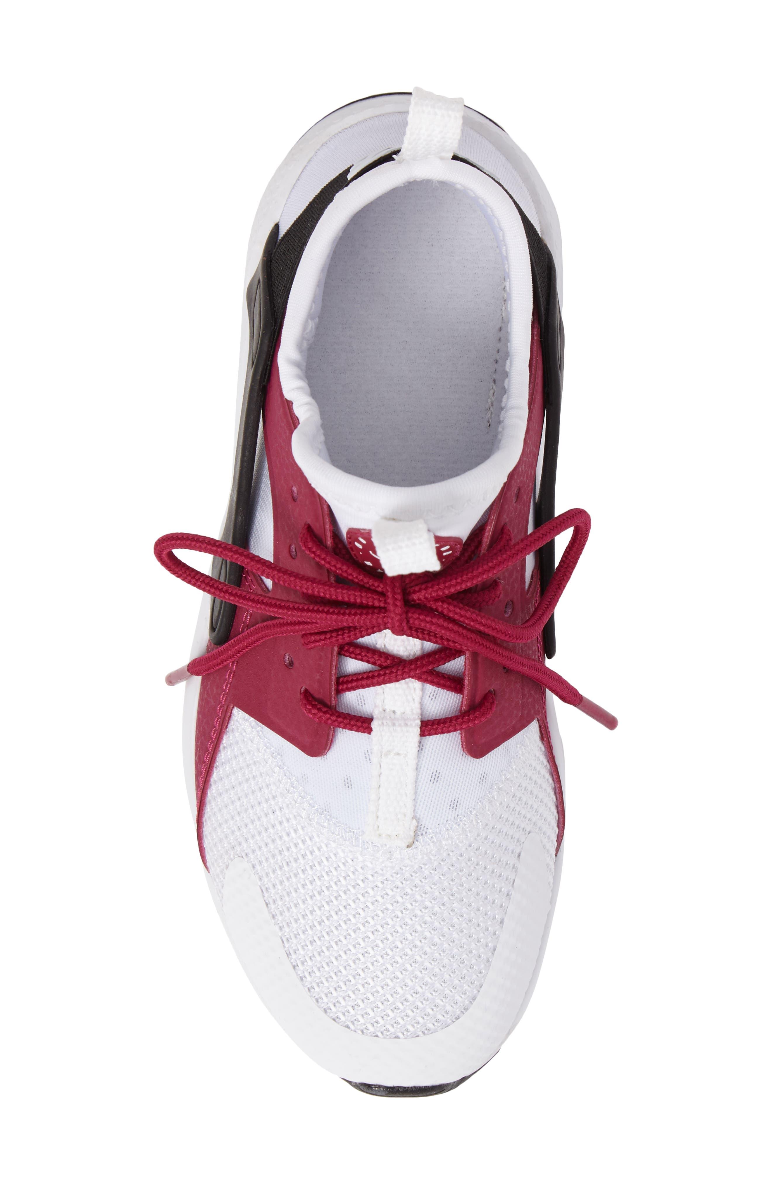 Air Huarache Run Ultra Sneaker,                             Alternate thumbnail 5, color,                             White/ Sport Fuchsia/ Black