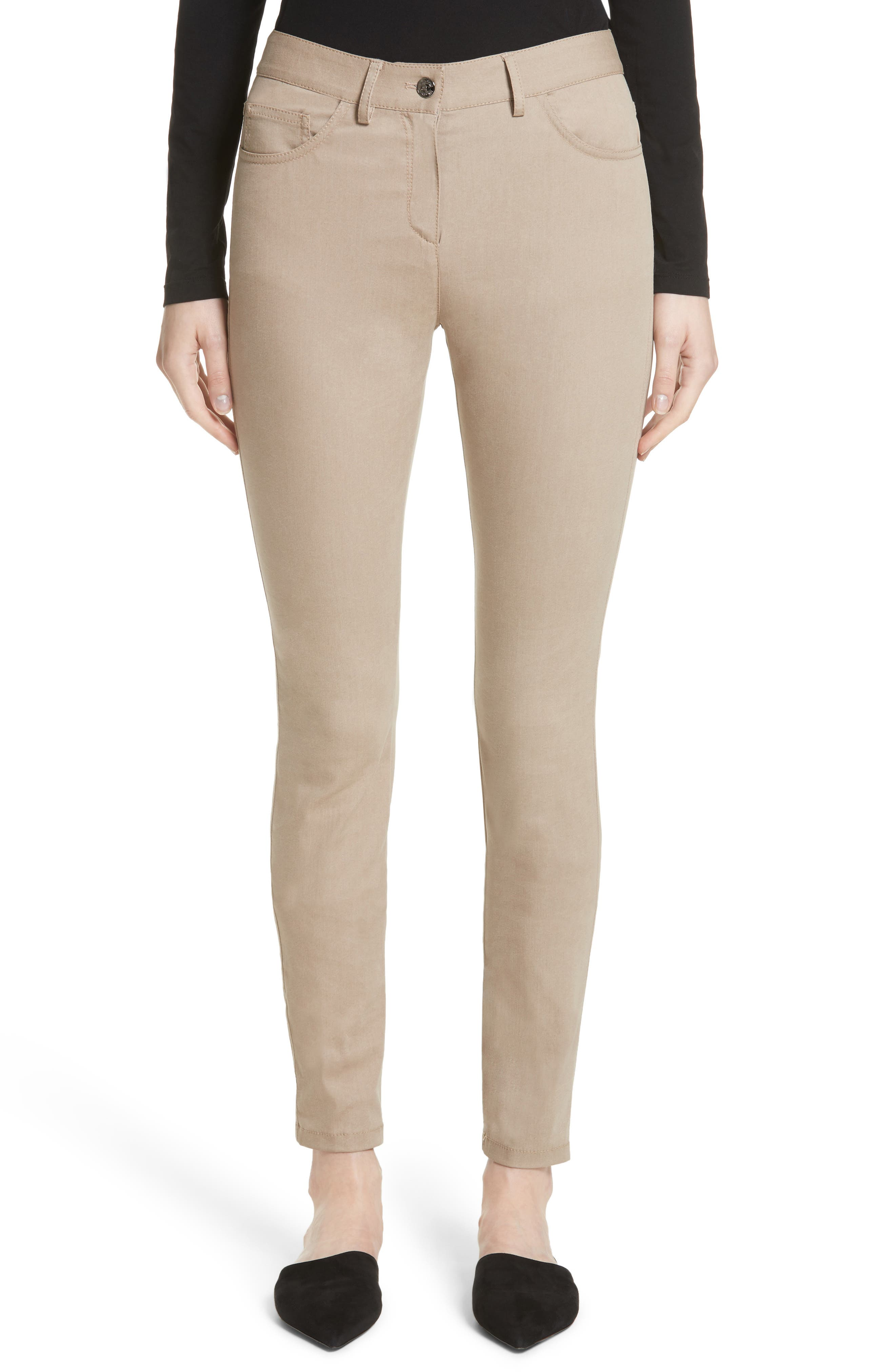 St. John Collection Slim Stretch Crop Jeans (Nordstrom Exclusive)