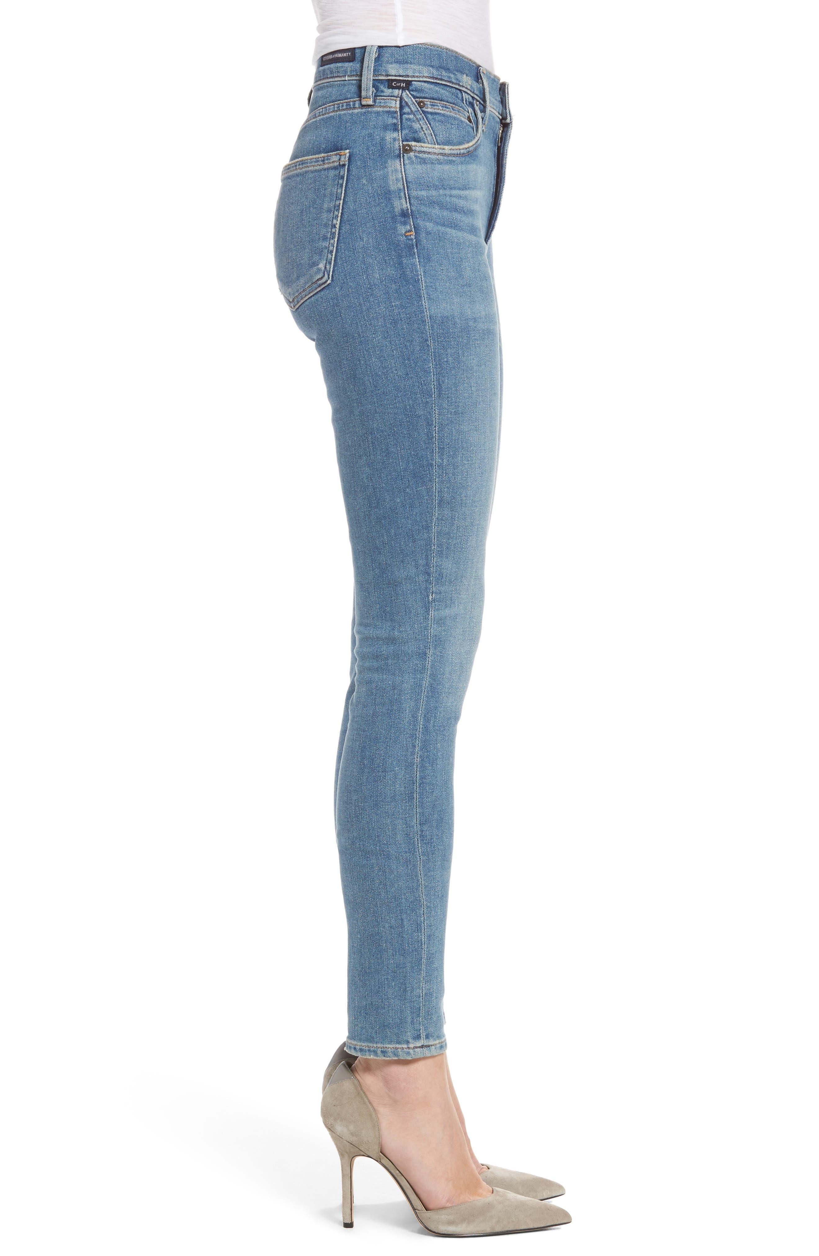 Alternate Image 3  - Citizens of Humanity Rocket High Waist Skinny Jeans (Reyes)