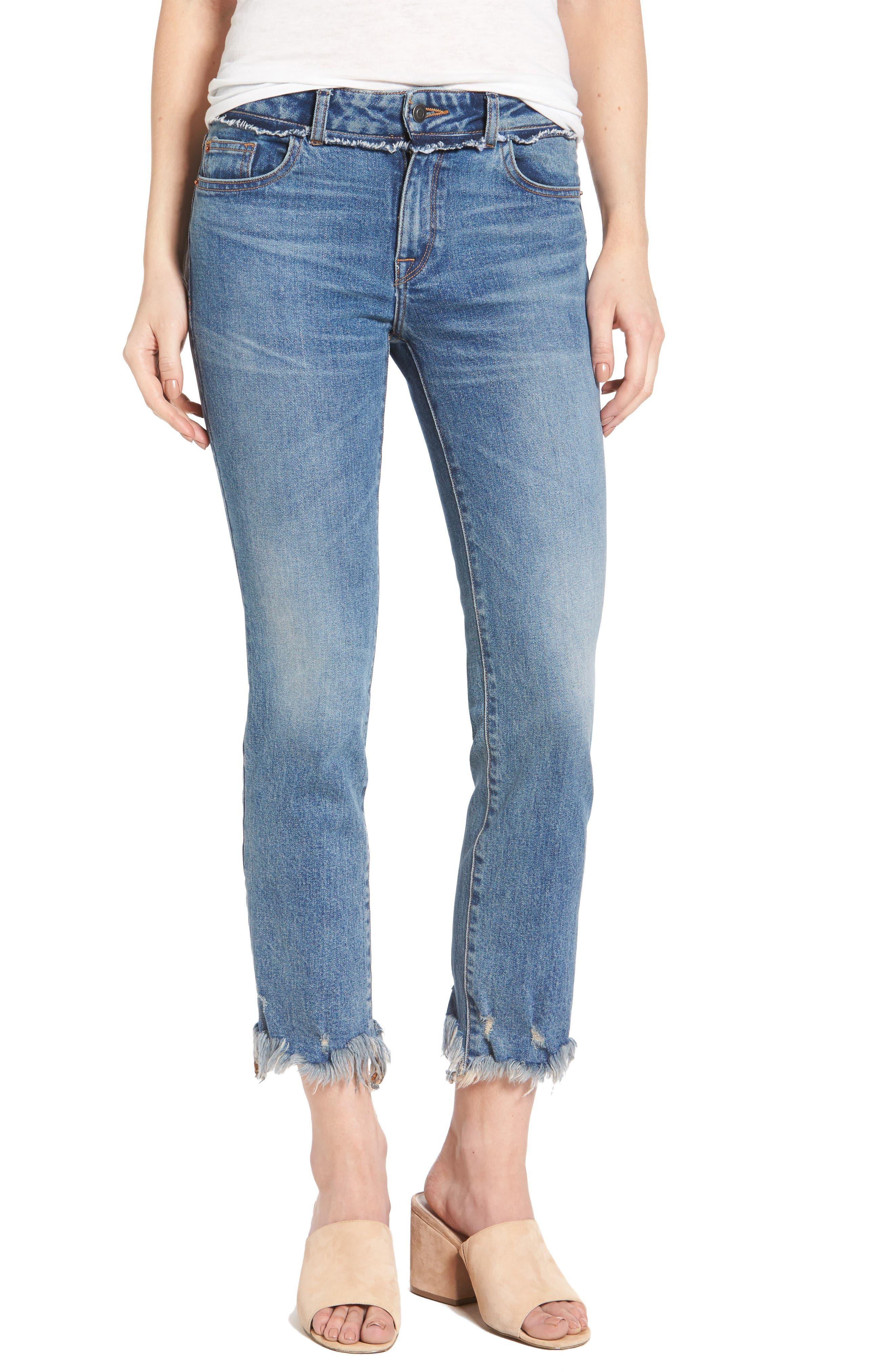 DL1961 Mara Ankle Straight Leg Jeans (Gravity)