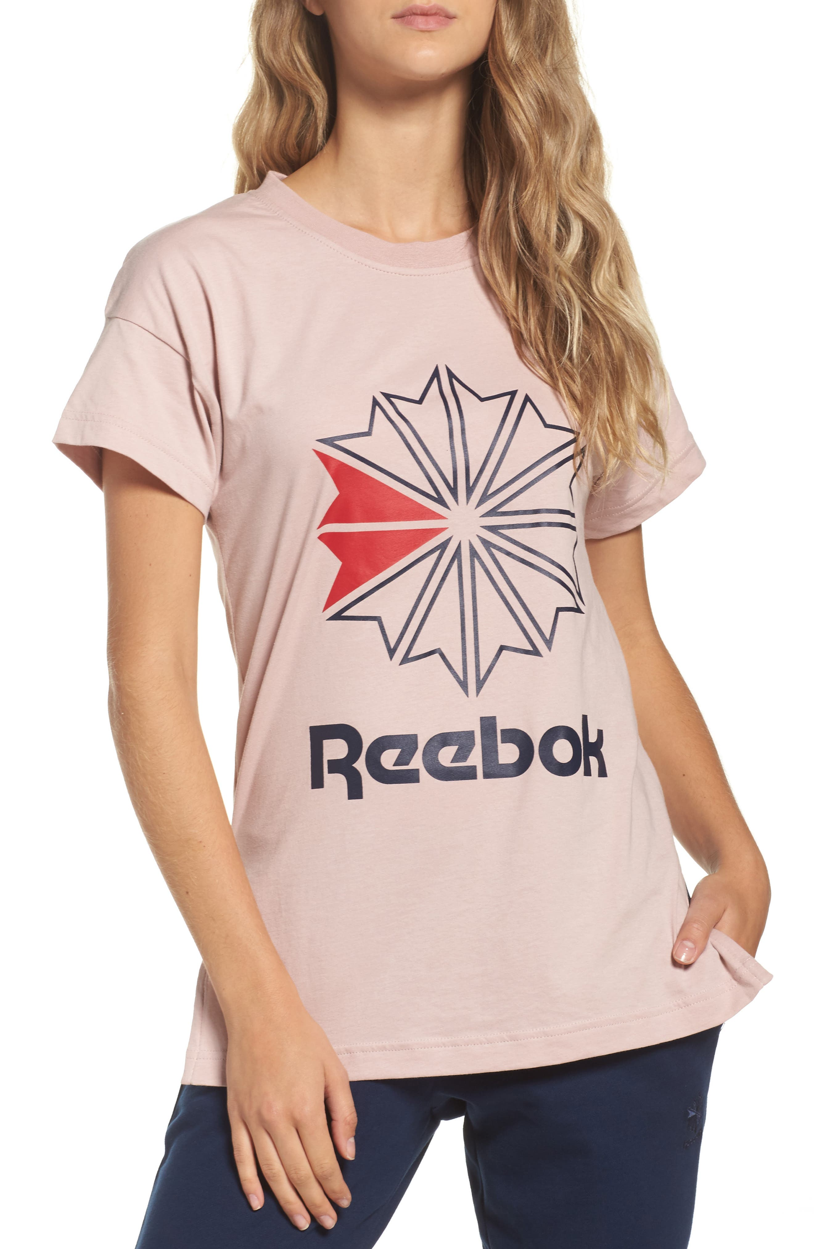 Graphic Logo Tee,                         Main,                         color, Shell Pink