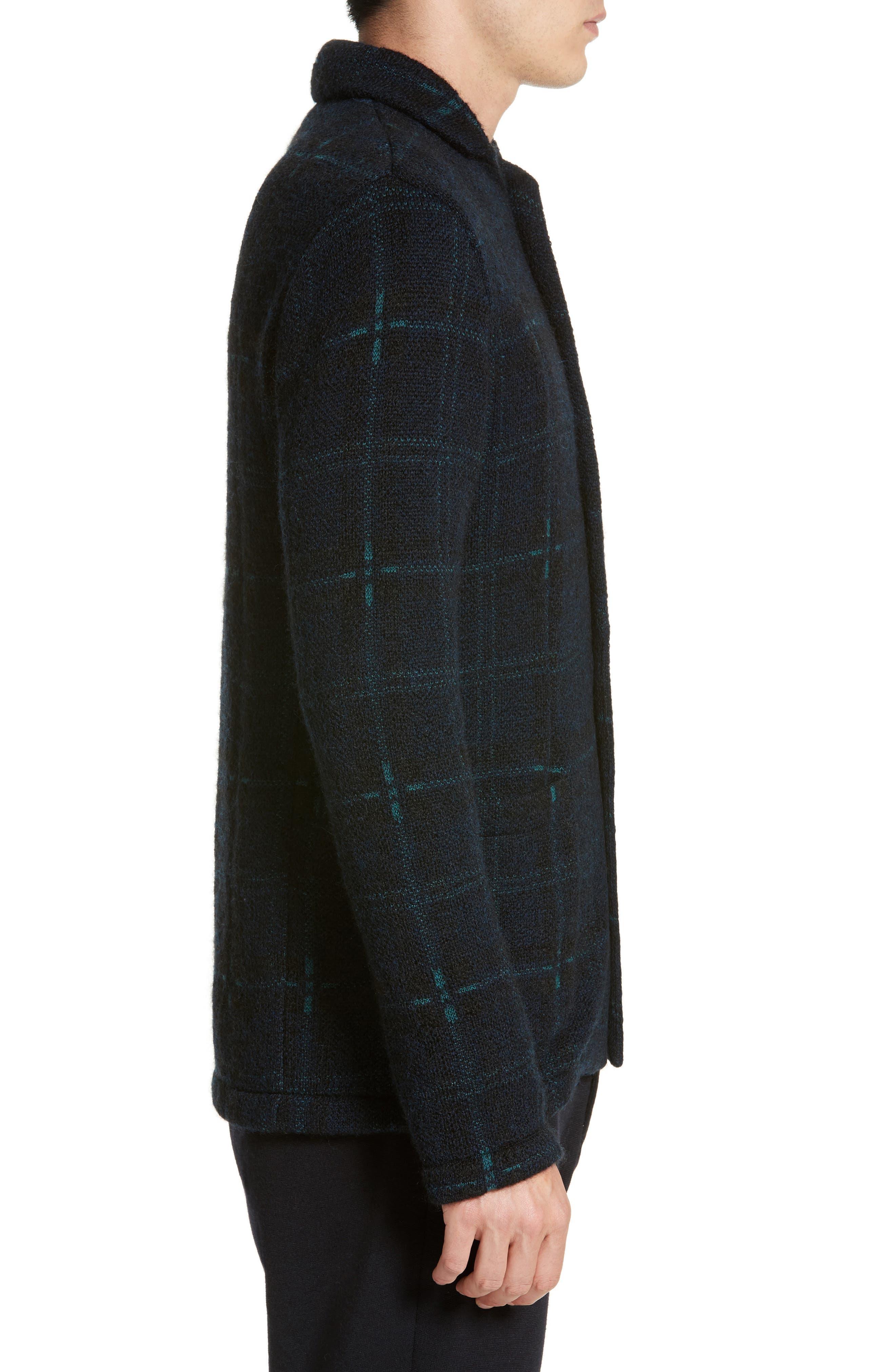 Wool Blend Knit Sportcoat,                             Alternate thumbnail 3, color,                             Navy