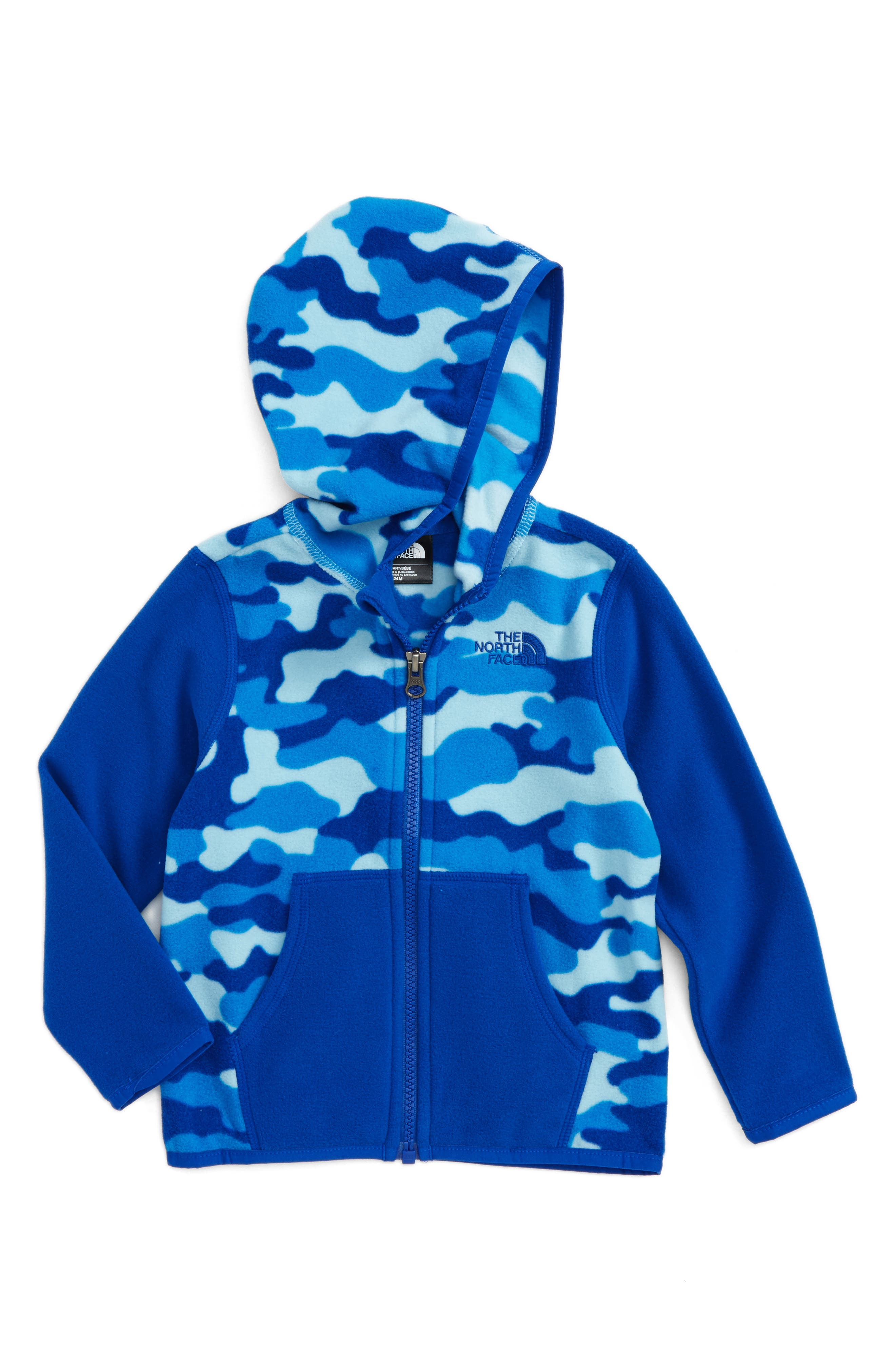 Alternate Image 1 Selected - The North Face 'Glacier' Zip Hoodie (Baby Boys)