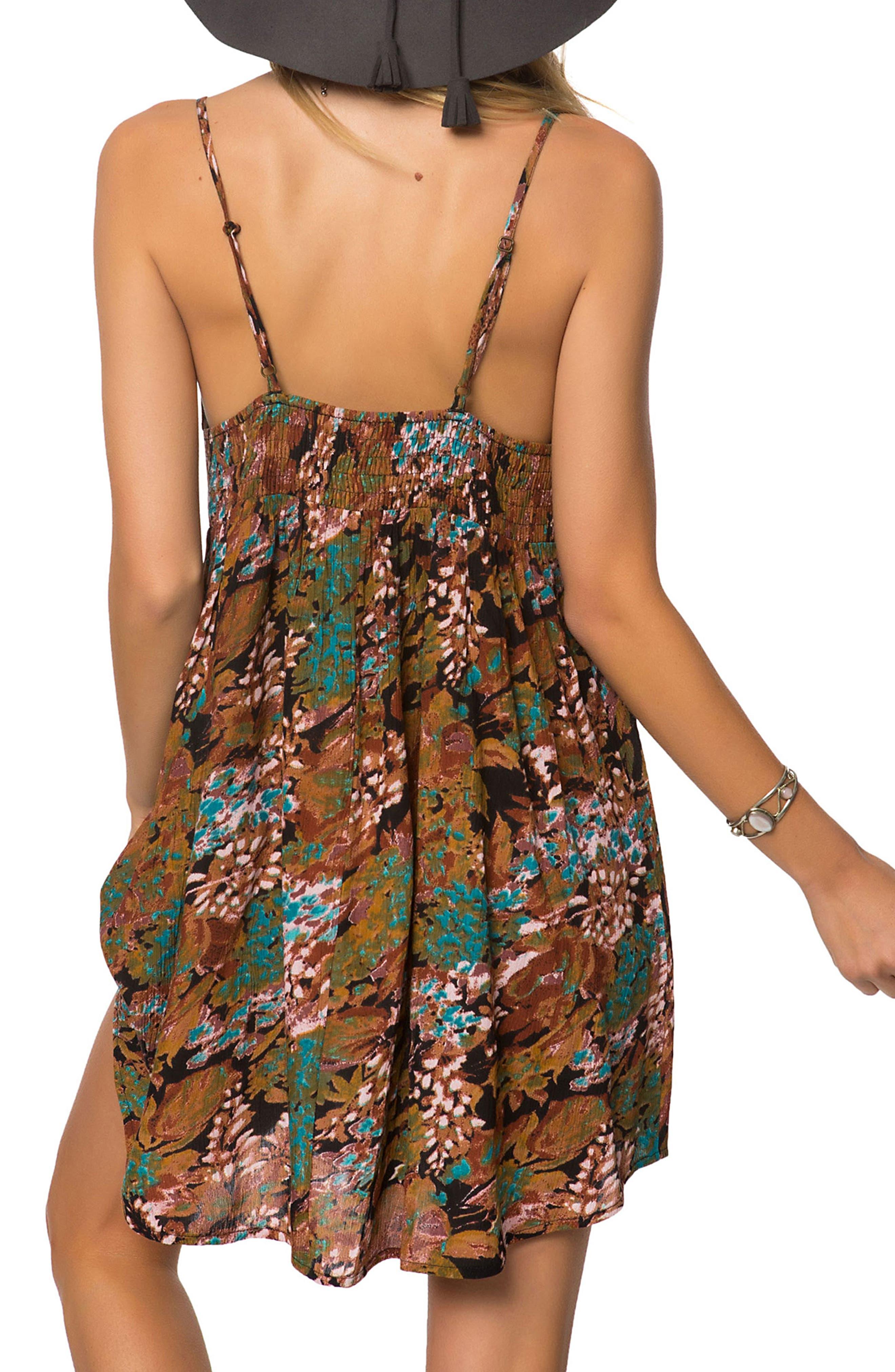 Marnie Print Camisole Dress,                             Alternate thumbnail 2, color,                             Jet Black