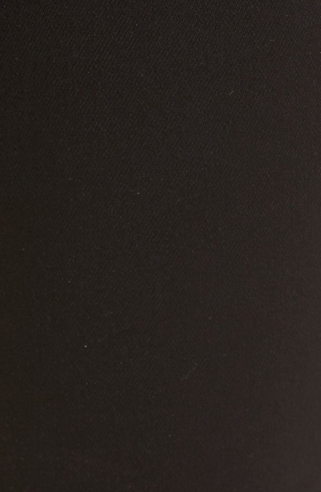 Alternate Image 5  - Good American High Waist Side Zip Skinny Jeans (Black 001) (Extended Sizes)