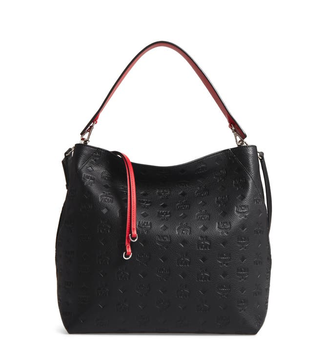 MCM Klara Monogrammed Leather Hobo Bag | Nordstrom