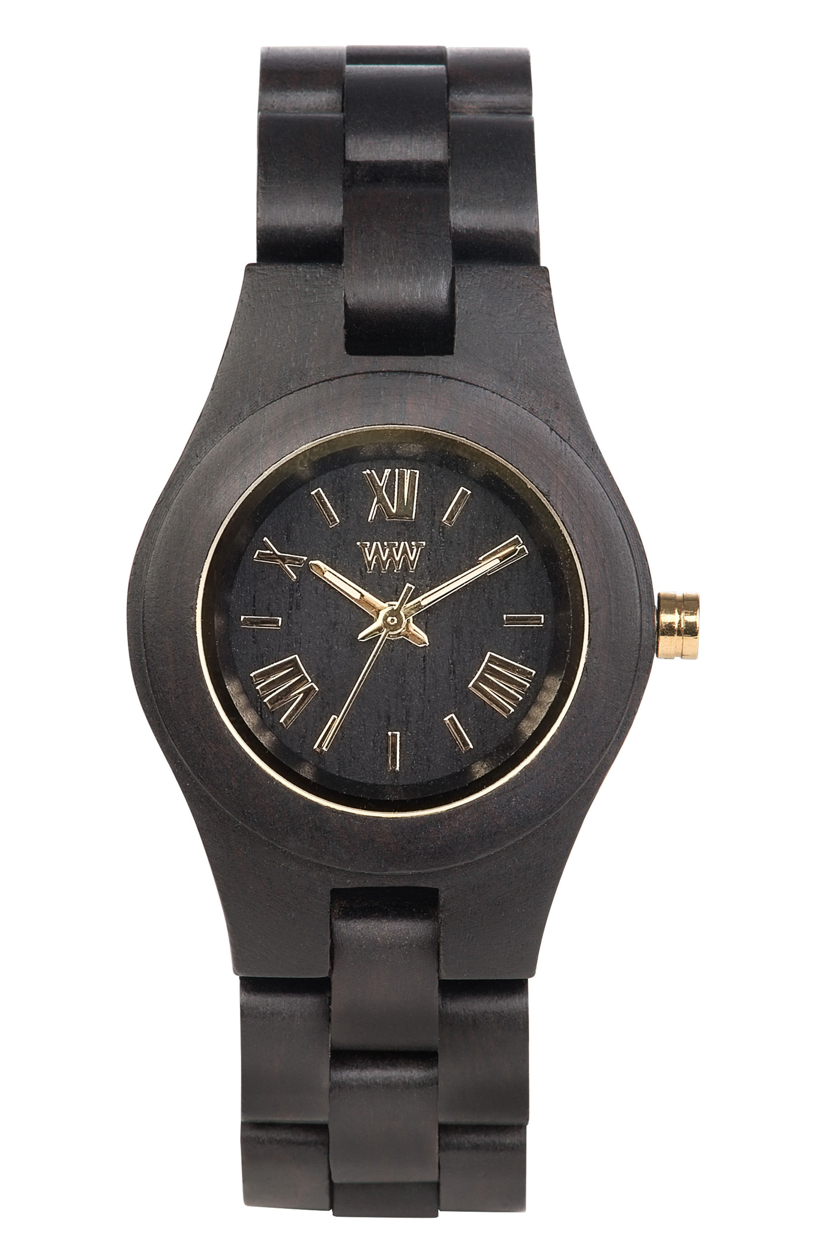 Criss Wood Bracelet Watch, 31mm,                         Main,                         color, Black