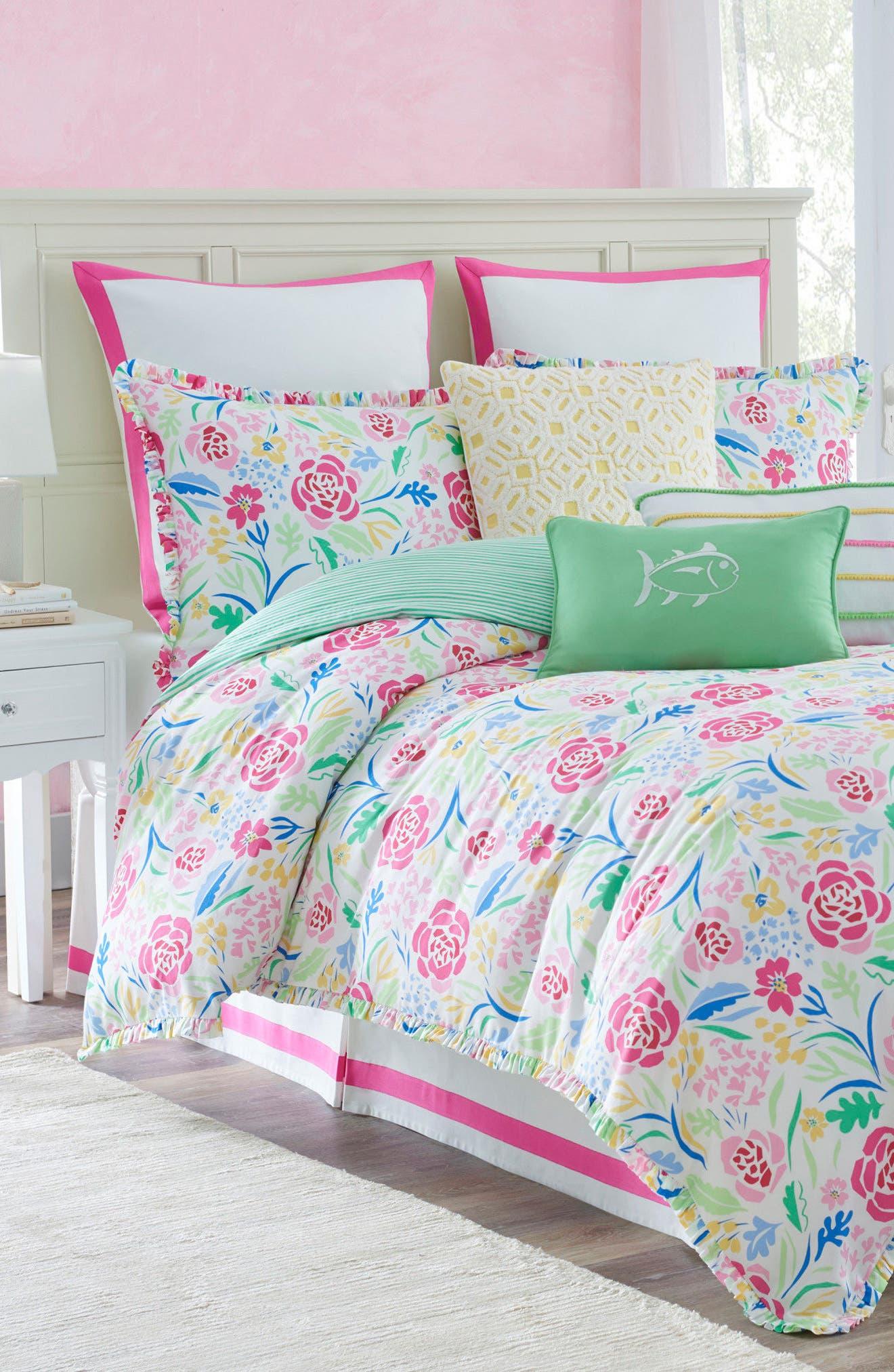 Main Image - Southern Tide Kiawah Floral Comforter, Sham & Bed Skirt Set