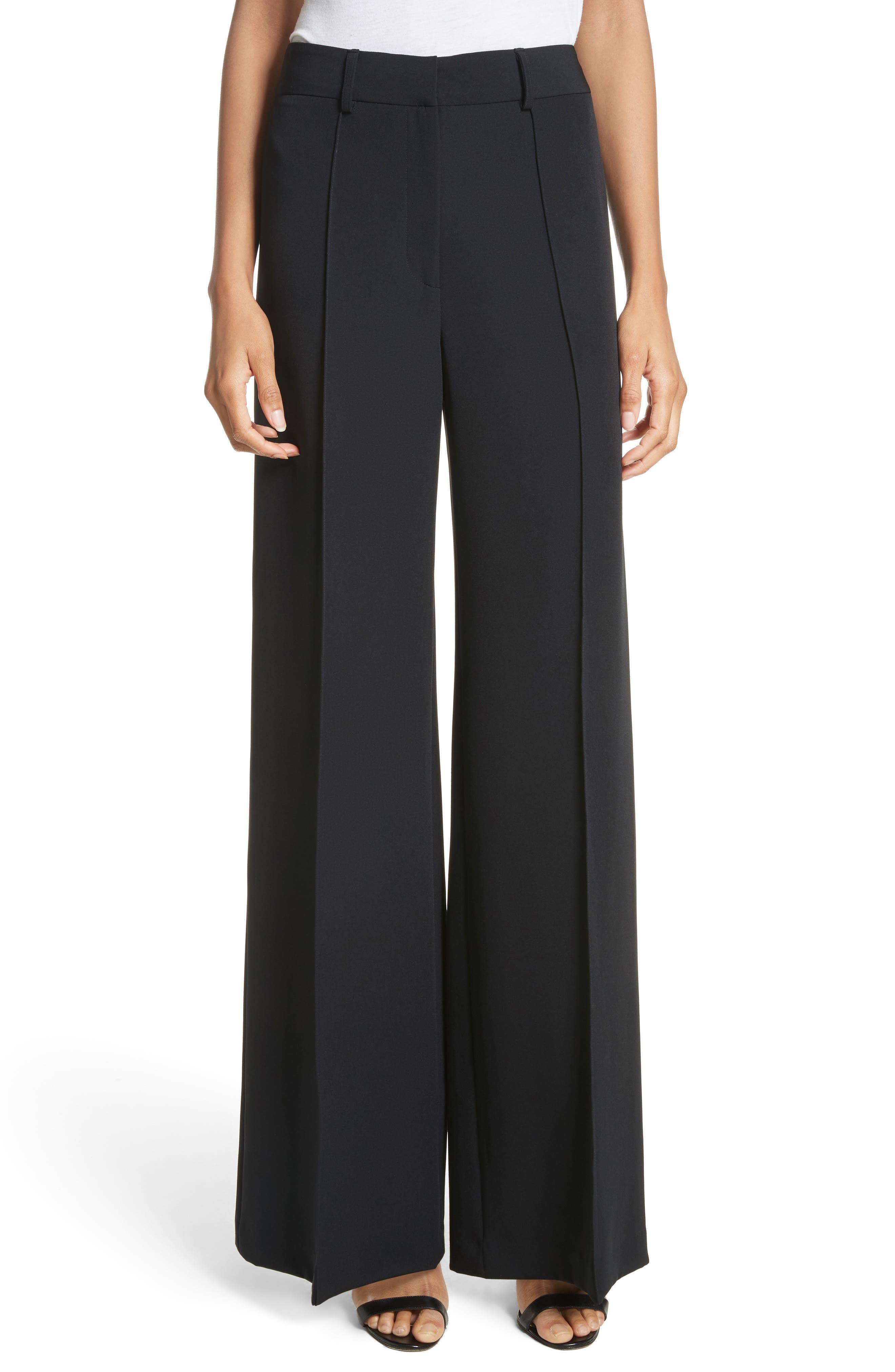 'Hayden' Wide Leg Trousers,                         Main,                         color, Black