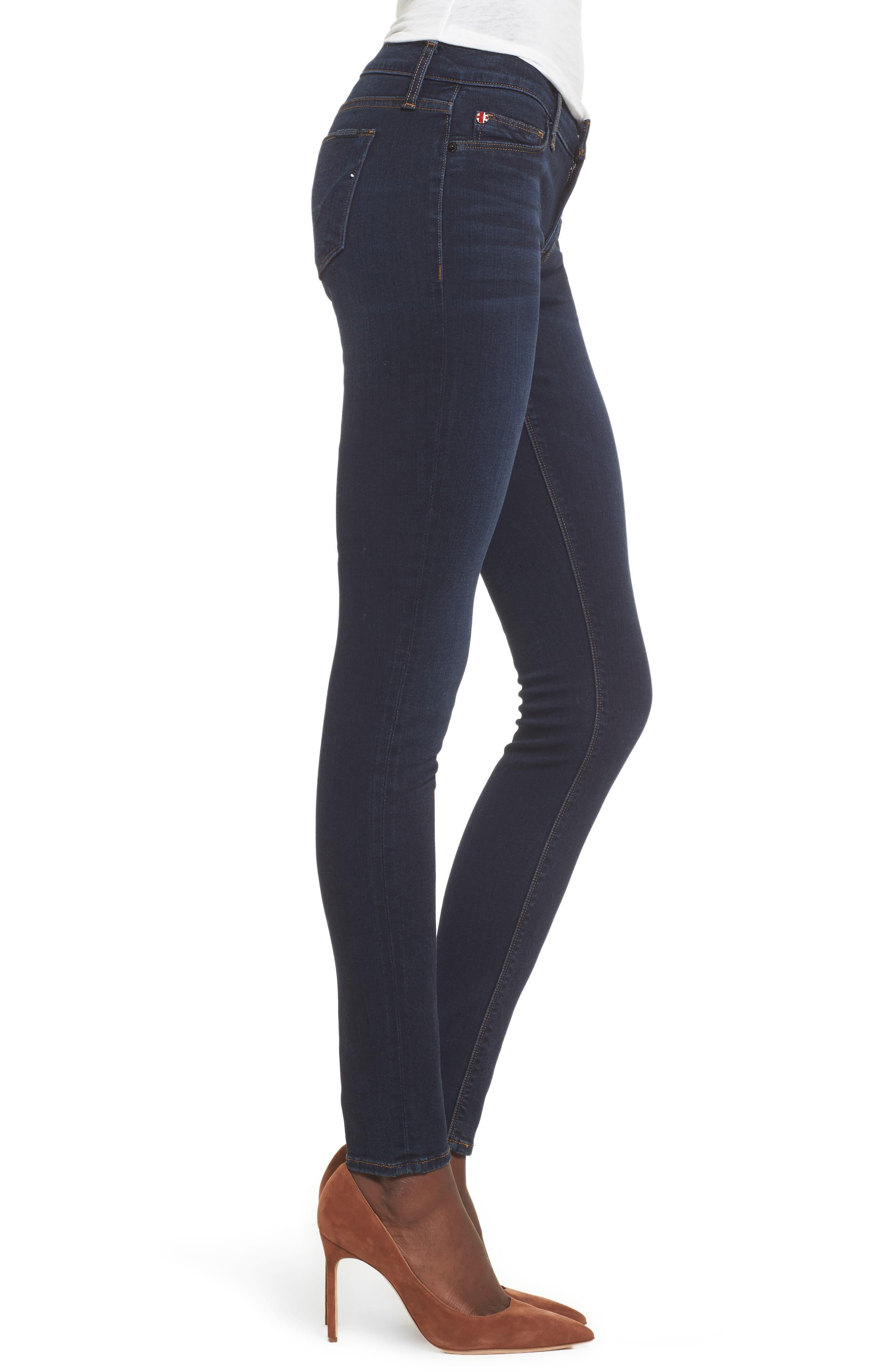 Alternate Image 3  - Hudson Jeans 'Krista' Super Skinny Jeans (Skylark)