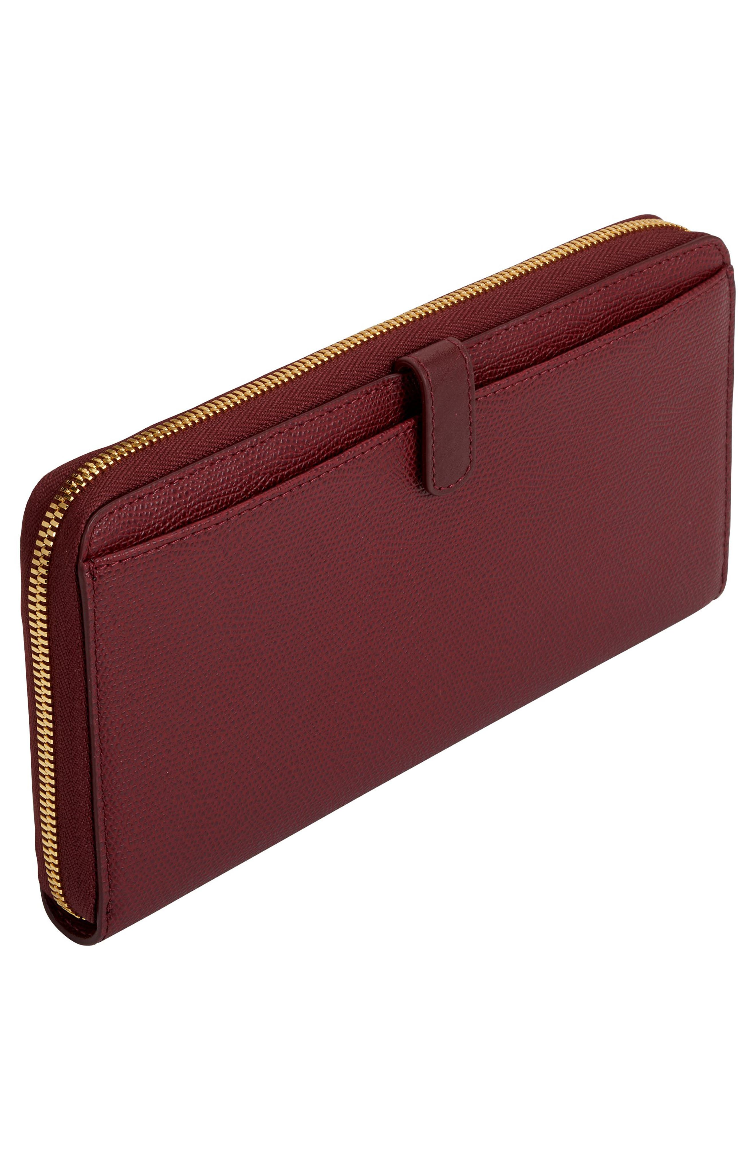 Travel Wallet,                             Alternate thumbnail 3, color,                             Burgundy