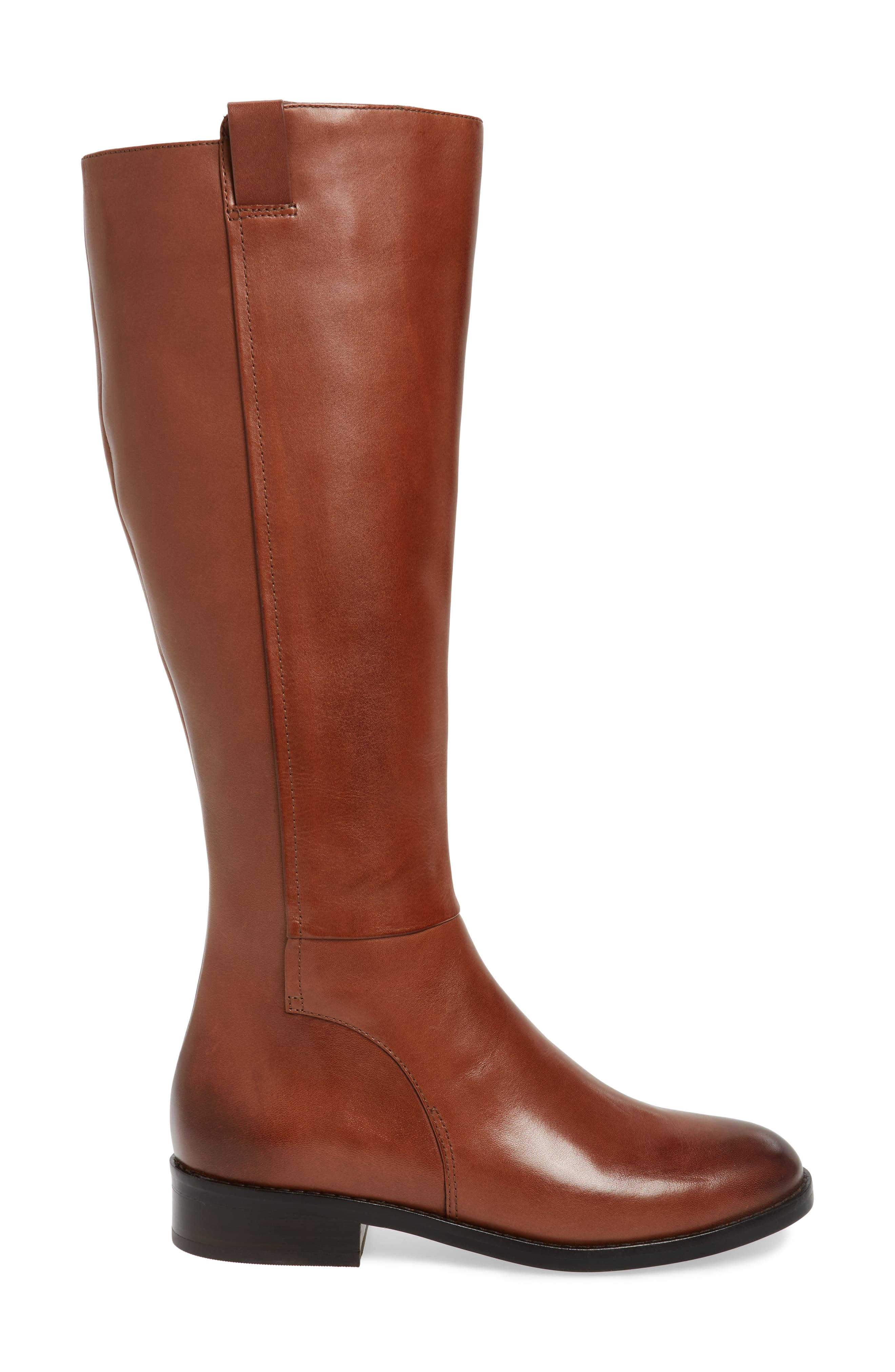 Katrina Riding Boot,                             Alternate thumbnail 4, color,                             Harvest Brown Leather