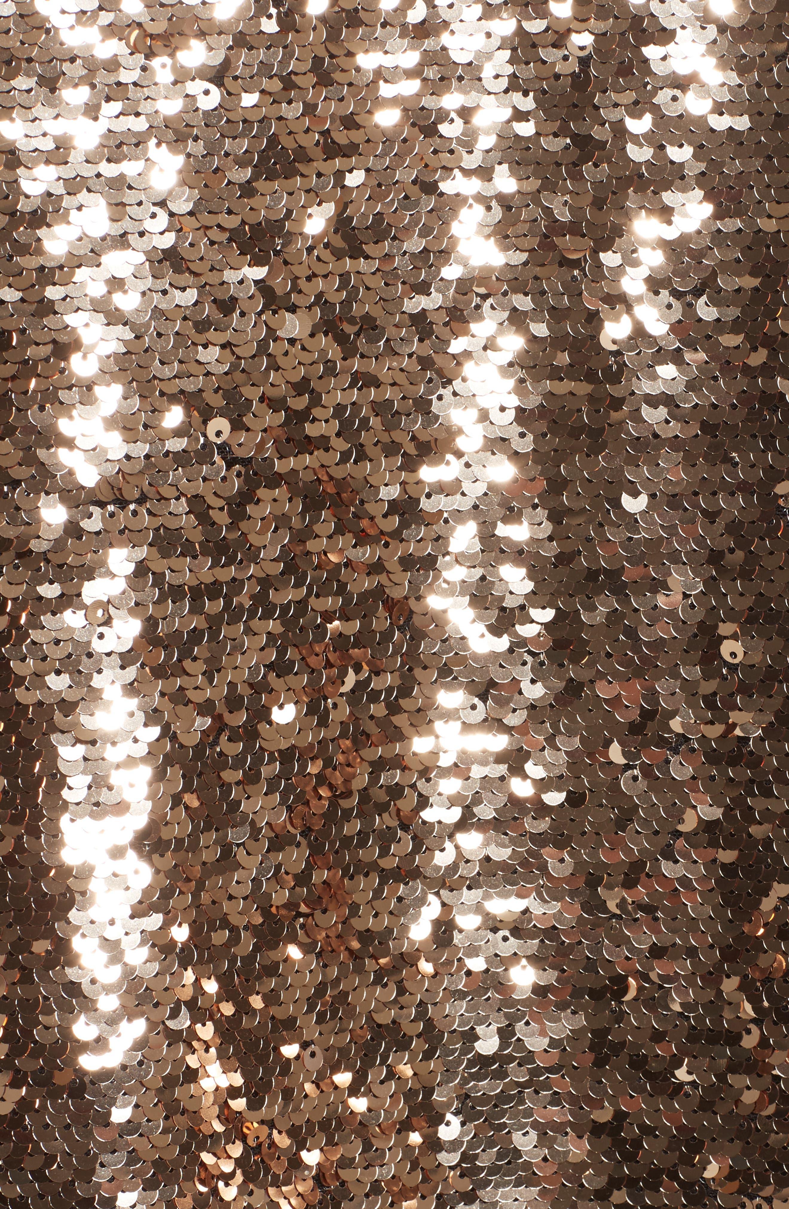 Strapless Velvet & Sequin Gown,                             Alternate thumbnail 5, color,                             Gold/ Noir