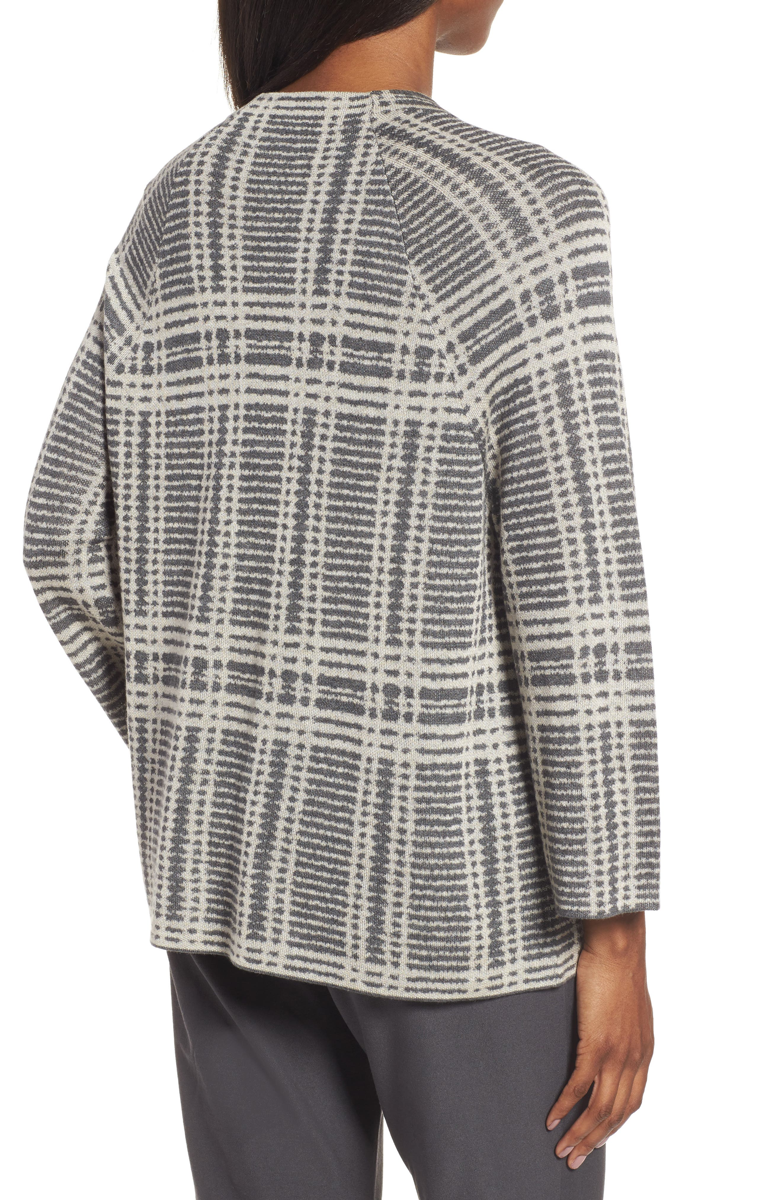 Alternate Image 2  - Eileen Fisher Plaid Tencel® & Wool Boxy Sweater