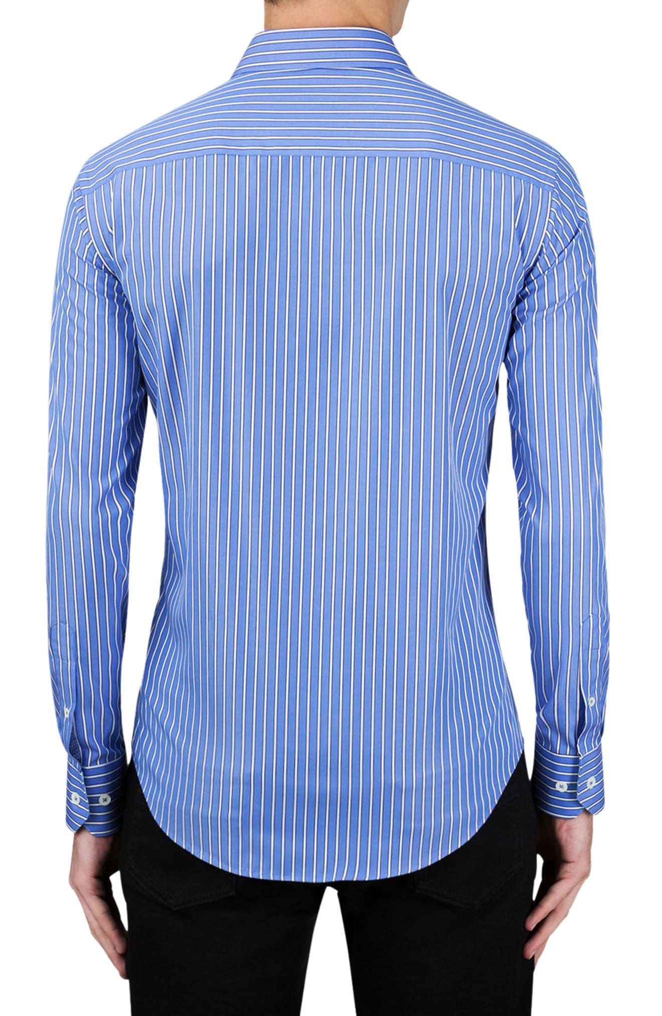 Classic Fit Stripe Sport Shirt,                             Alternate thumbnail 2, color,                             Classic Blue