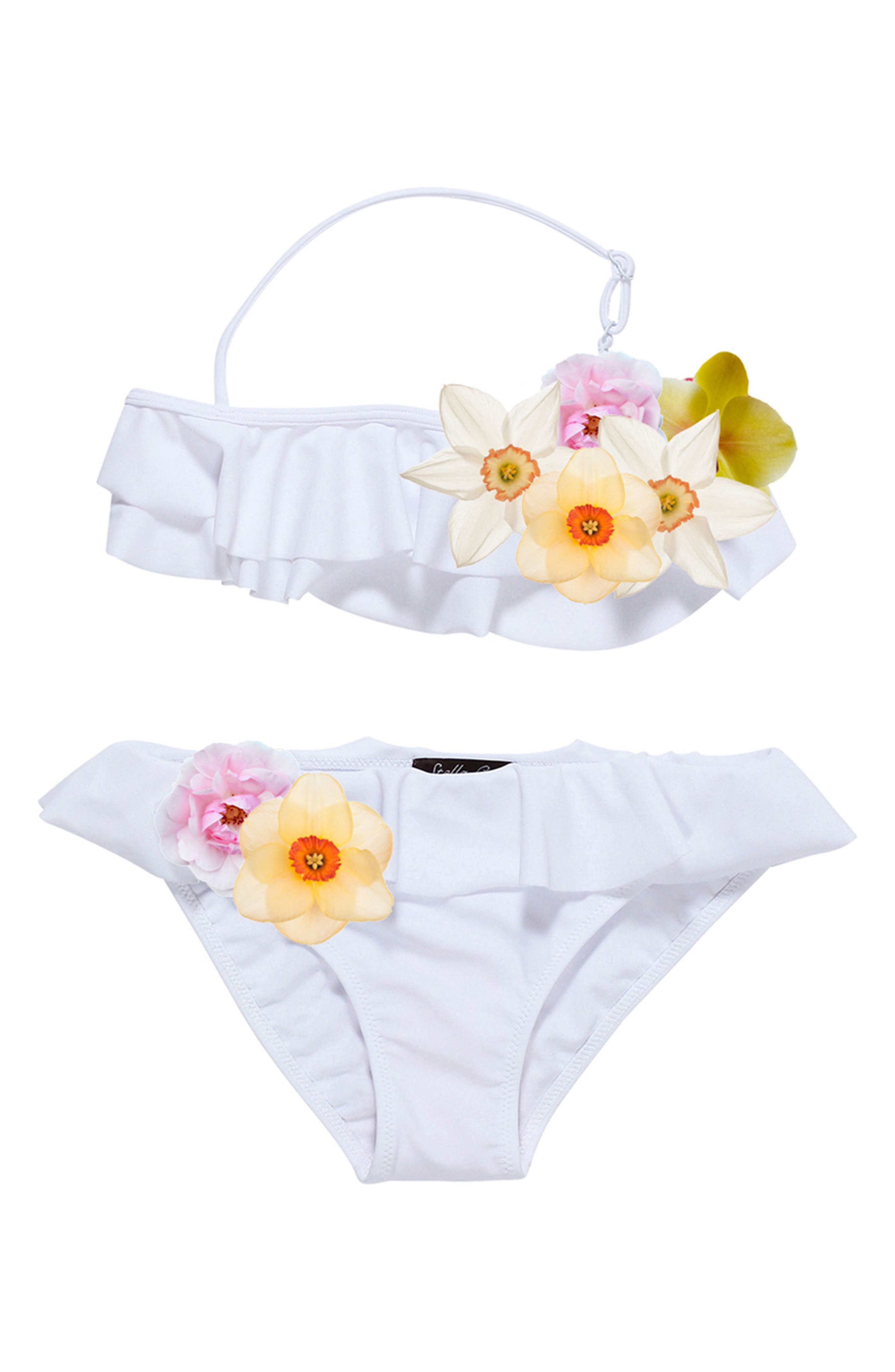 Stella Cove 3D Floral Two-Piece Swimsuit (Little Girls & Big Girls)