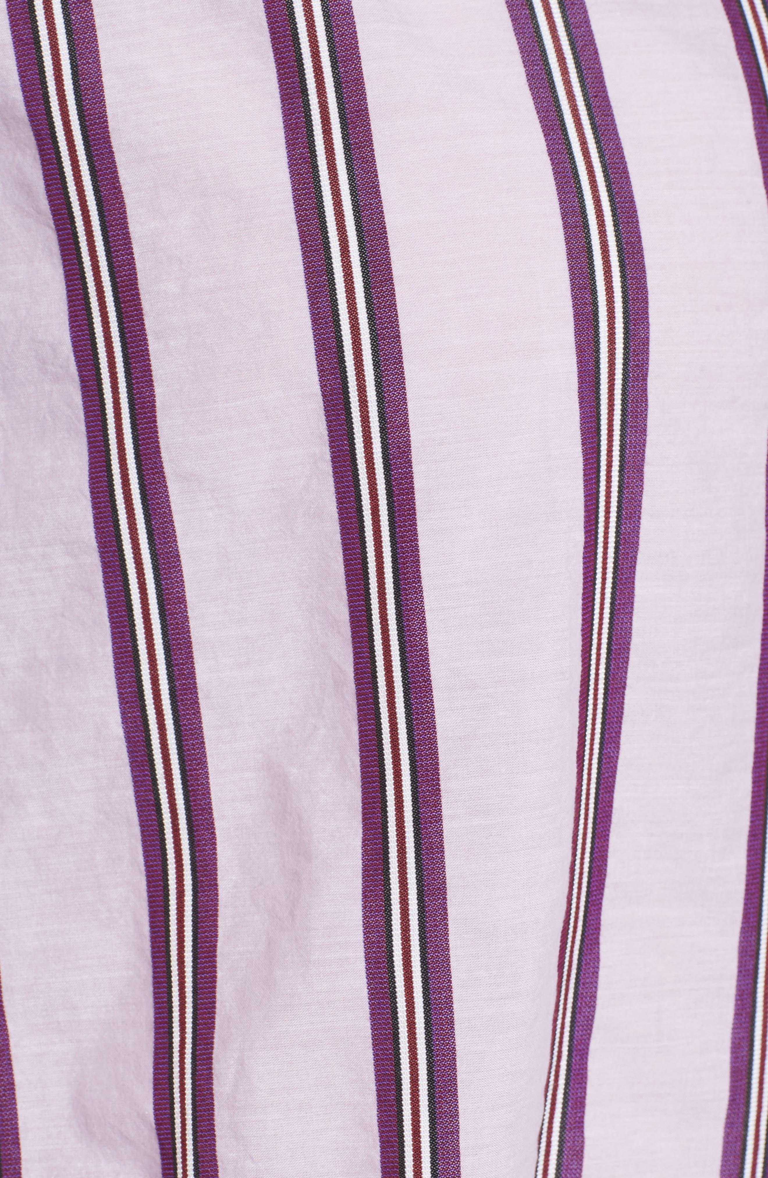 Alternate Image 5  - Nordstrom Signature Oversize Stripe Shirt