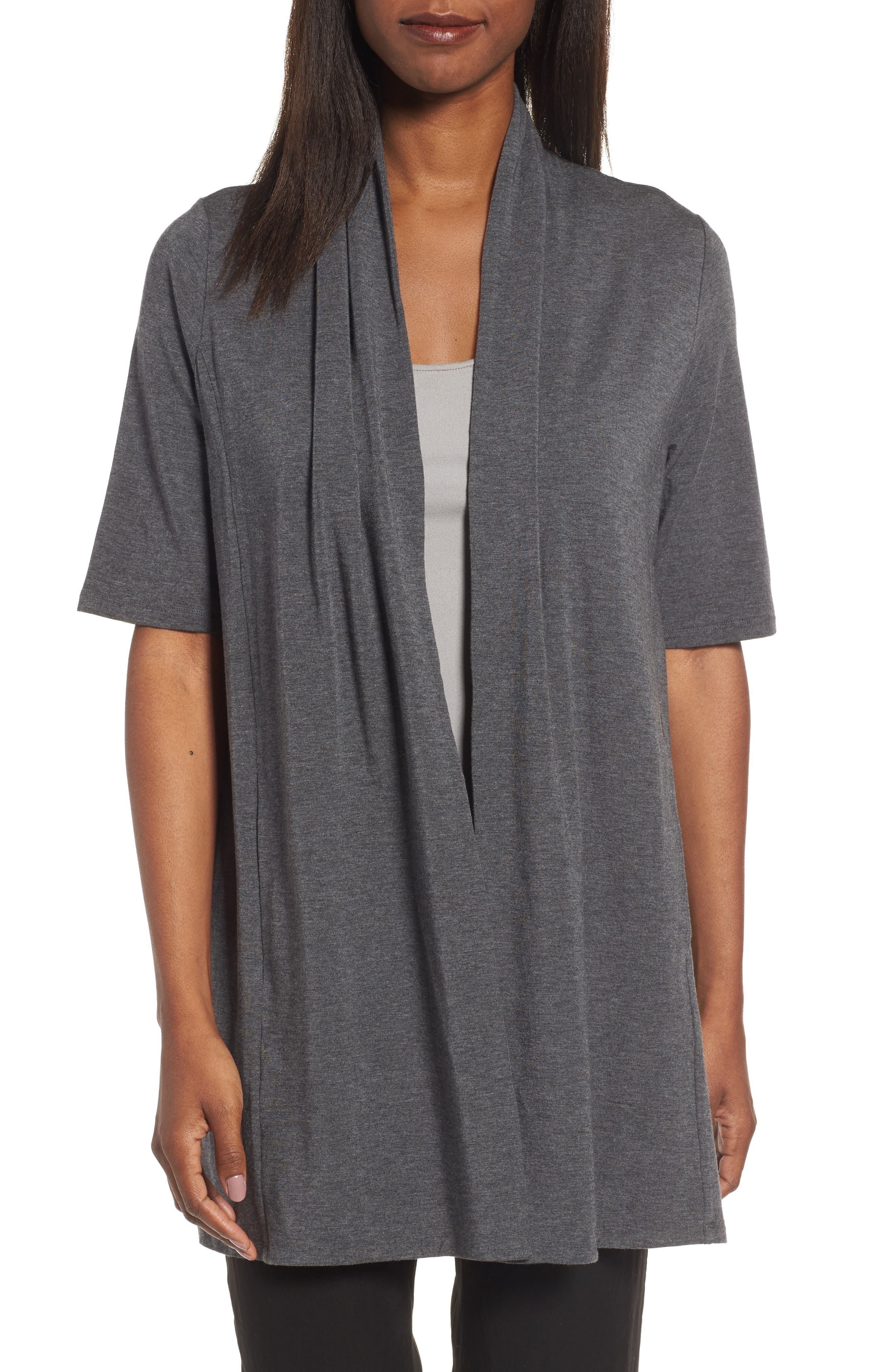 Alternate Image 1 Selected - Eileen Fisher Tencel® Kimono Cardigan