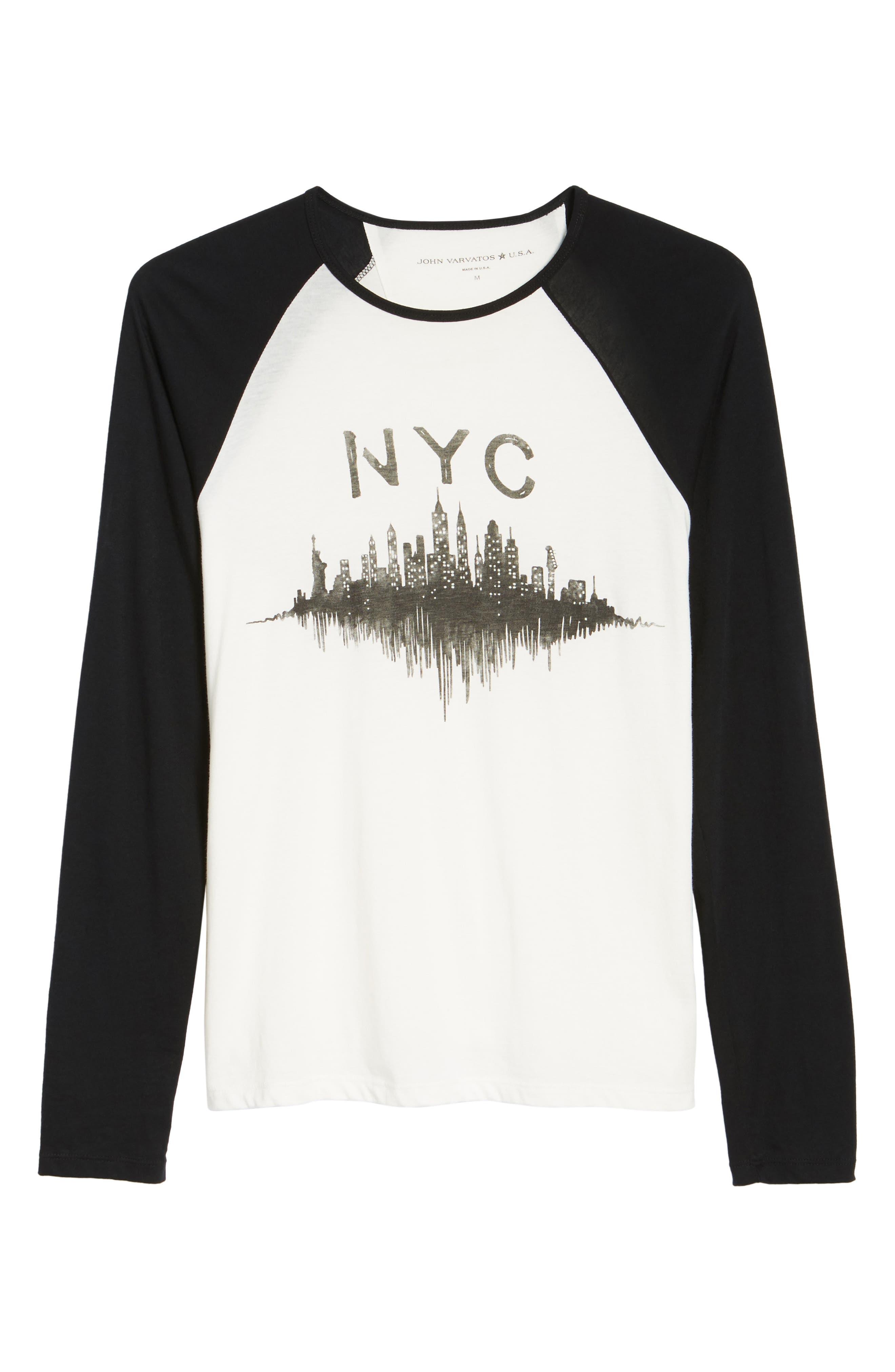 Alternate Image 5  - John Varvatos Star USA NYC Graphic Raglan Sleeve T-Shirt