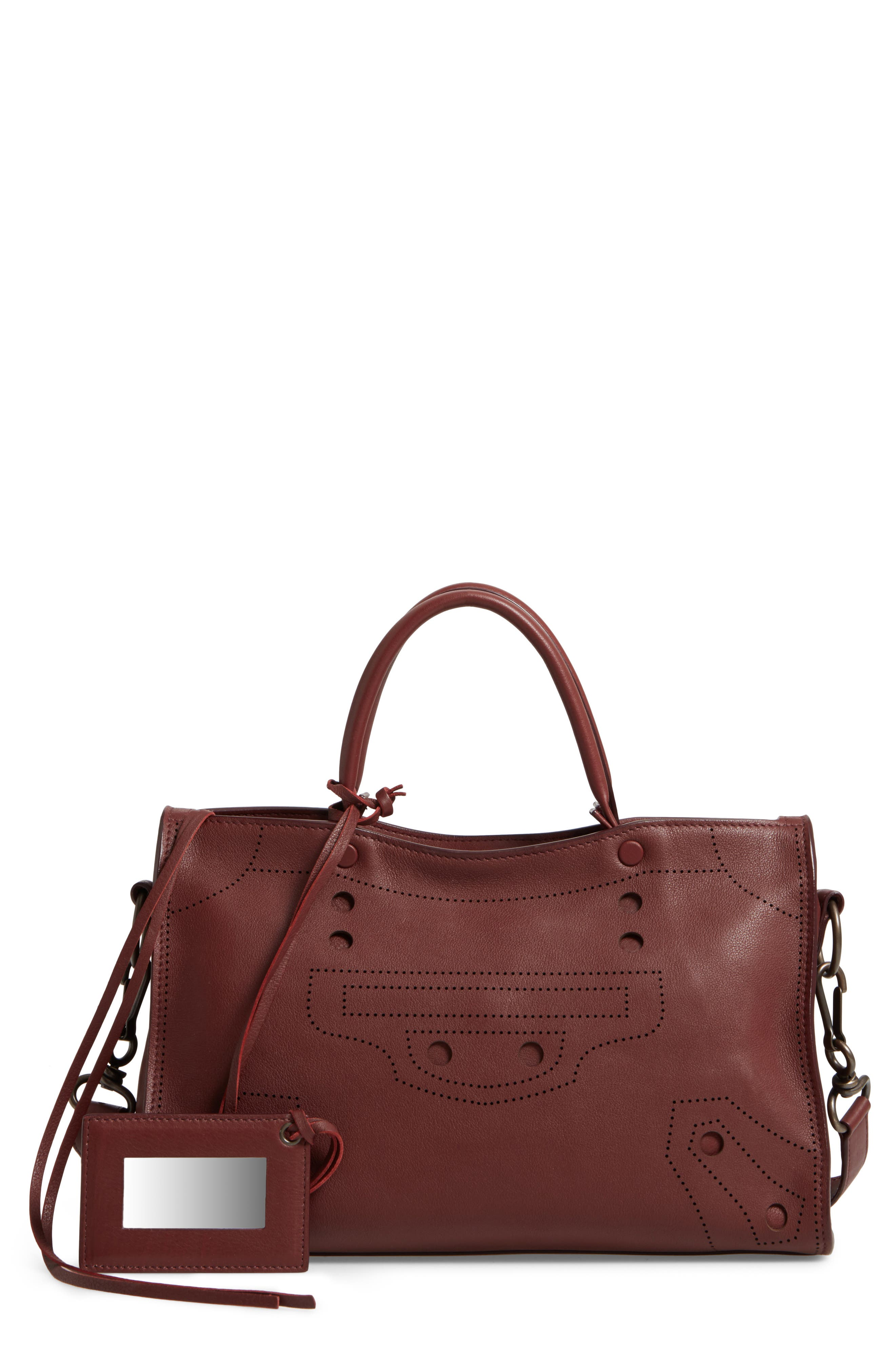Balenciaga Small Blackout City Leather Tote