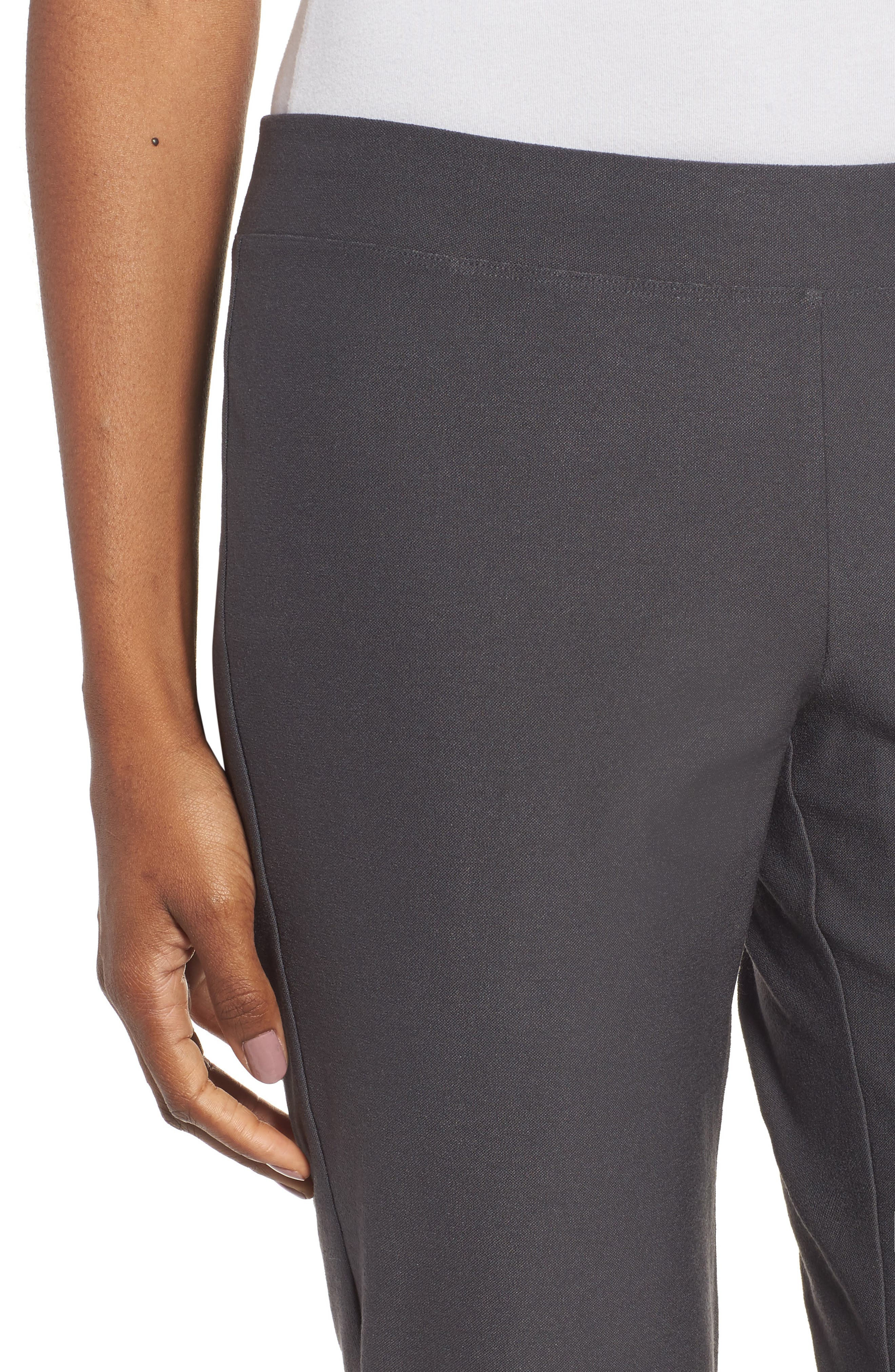 Alternate Image 4  - Eileen Fisher Stretch Crepe Slim Ankle Pants (Regular & Petite)