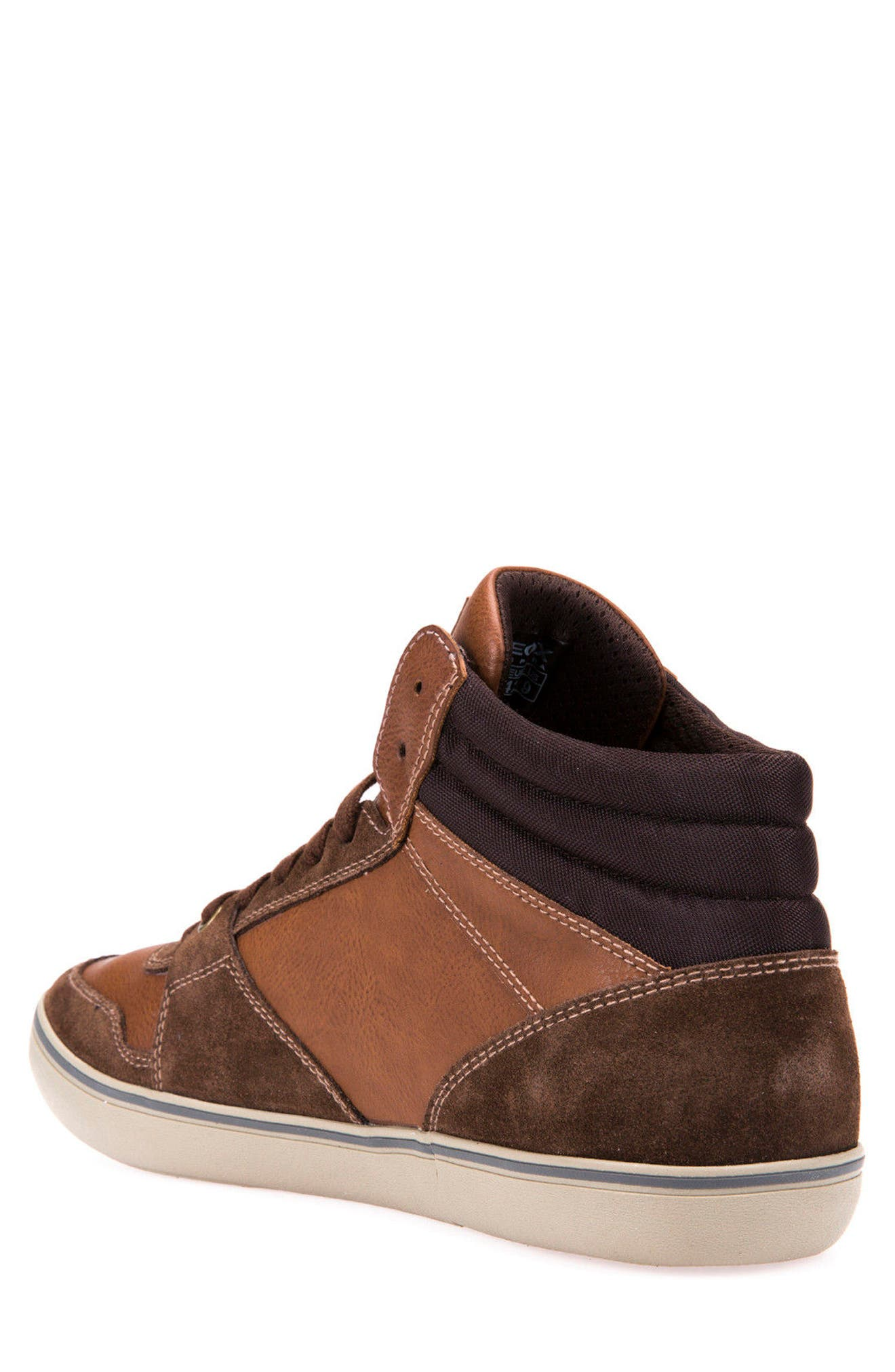Box 30 High Top Sneaker,                             Alternate thumbnail 2, color,                             Ebony/ Brown Cotto