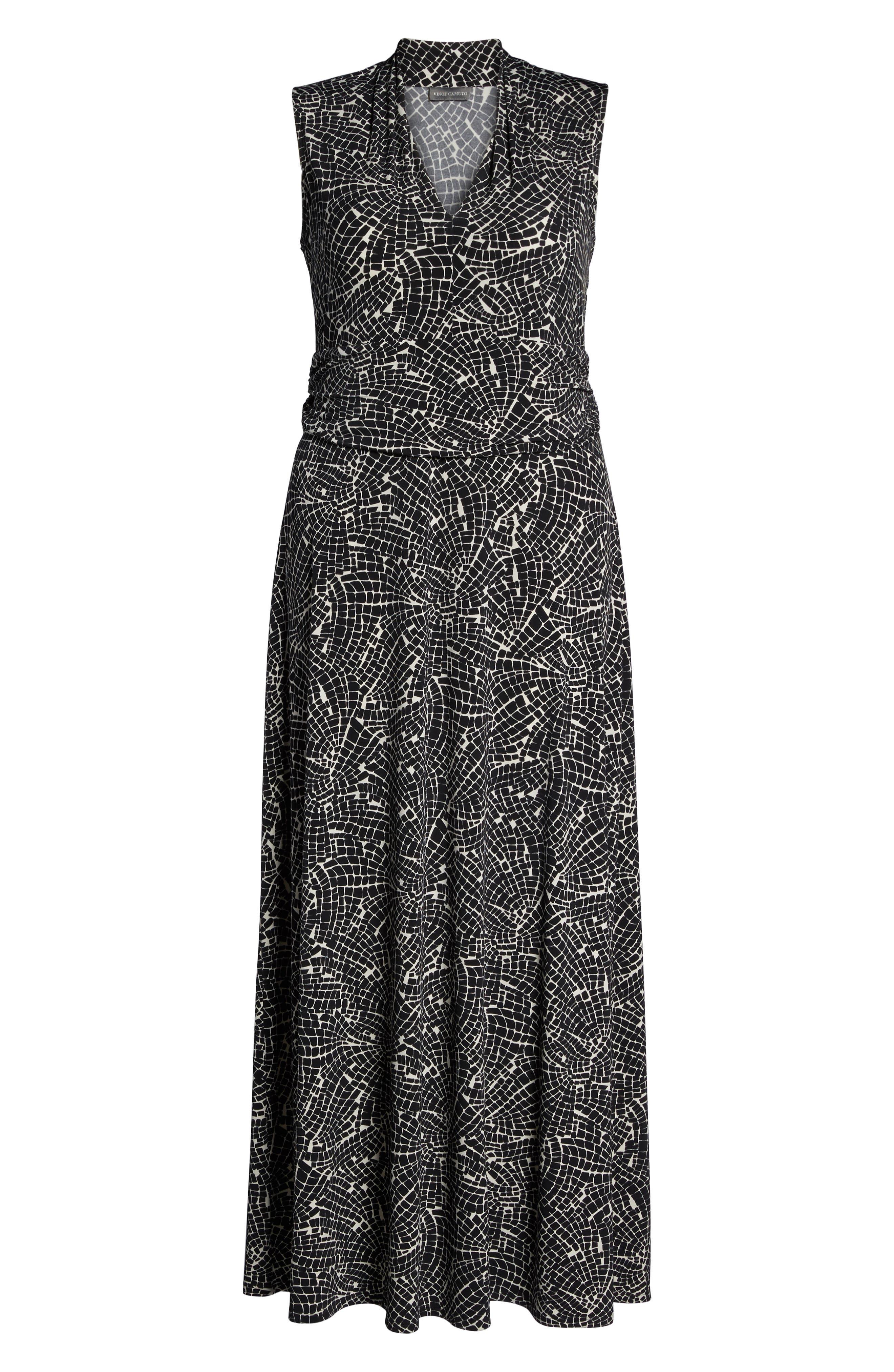 Modern Mosaic Maxi Dress,                             Alternate thumbnail 6, color,                             Rich Black