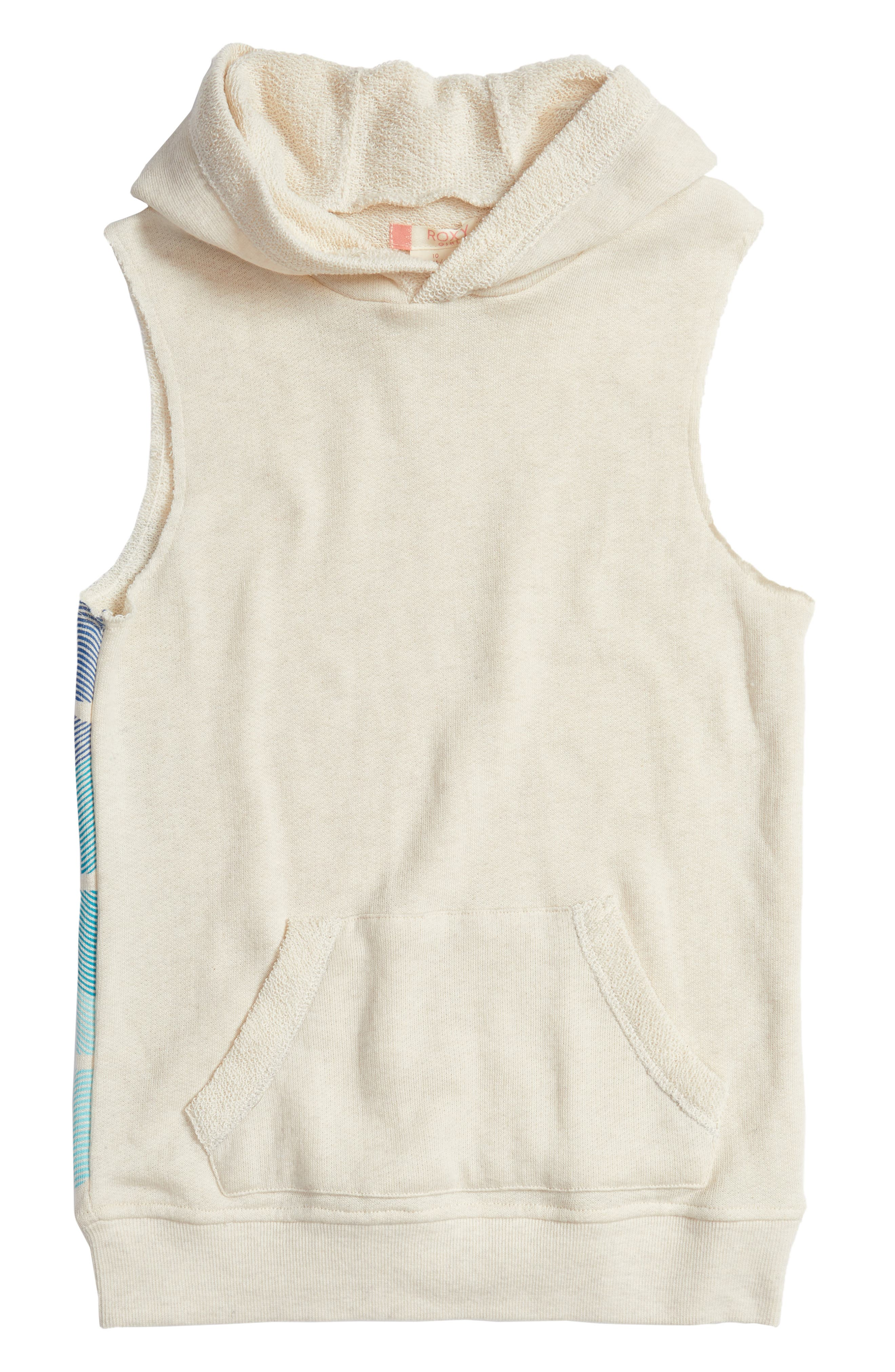 Falling Melody Sleeveless Hoodie,                             Main thumbnail 1, color,                             Metro Heather