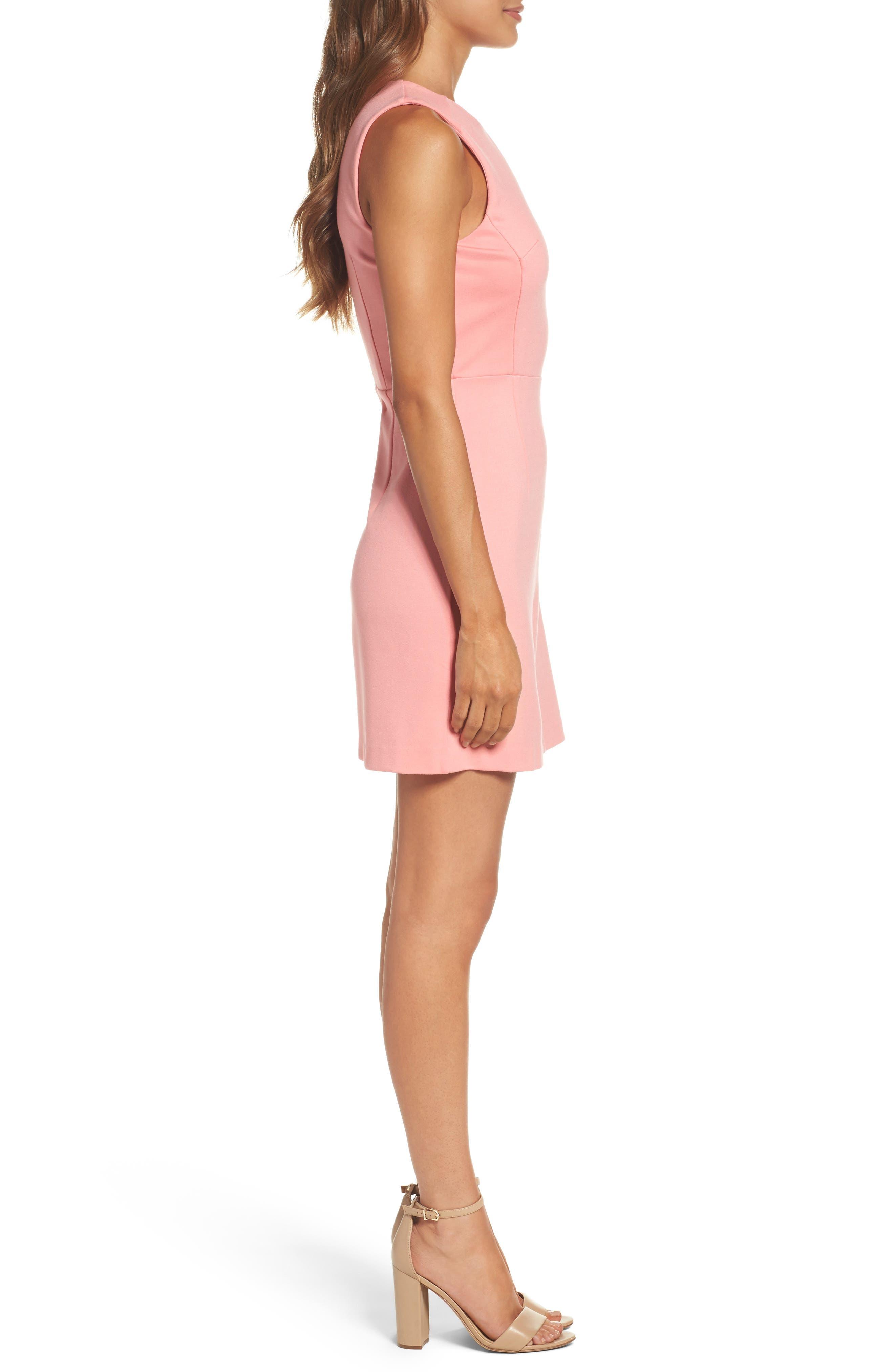 Lula Sheath Dress,                             Alternate thumbnail 3, color,                             Pink