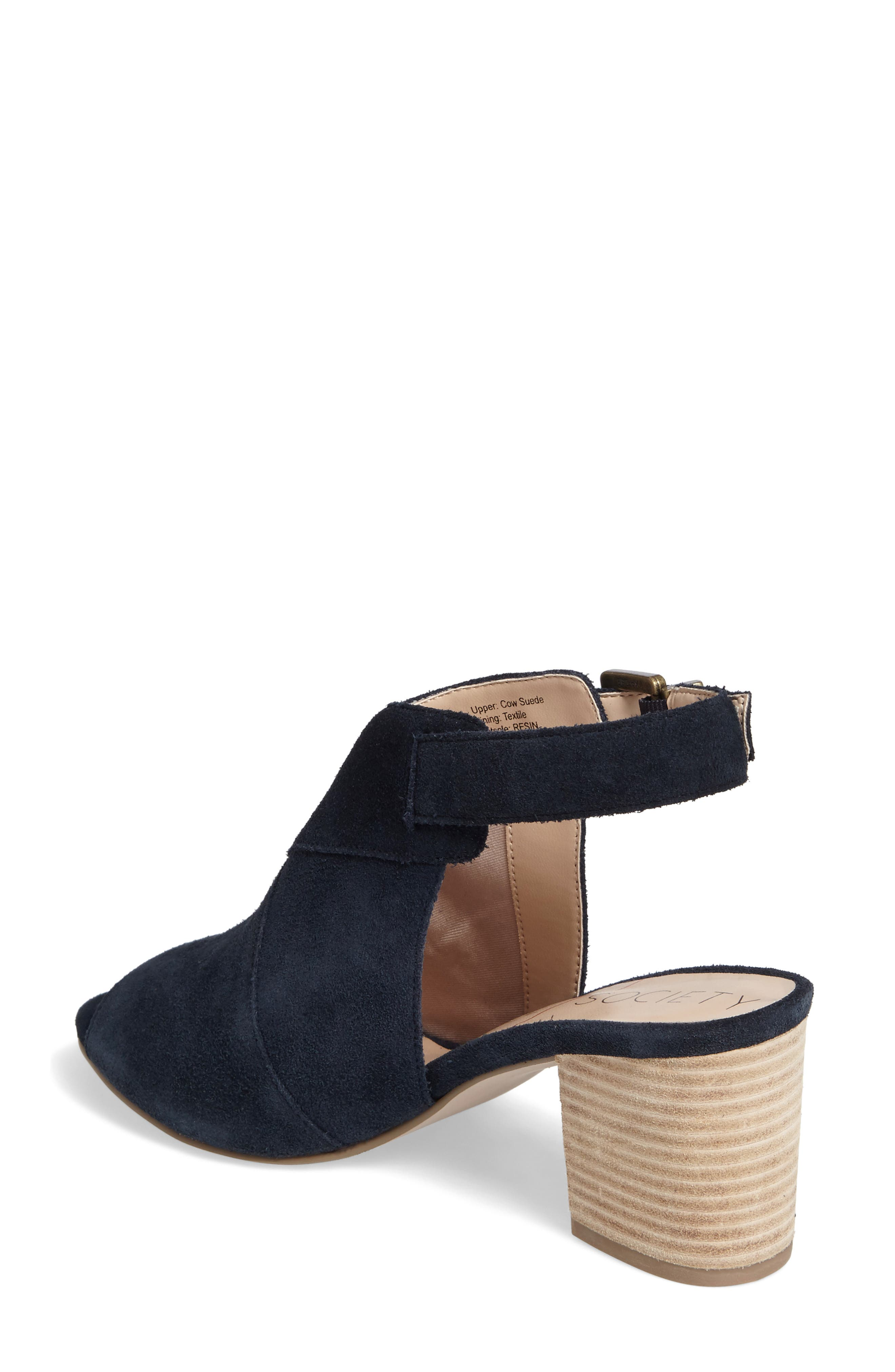 Zuma Peep Toe Bootie,                             Alternate thumbnail 2, color,                             Ink Navy Suede