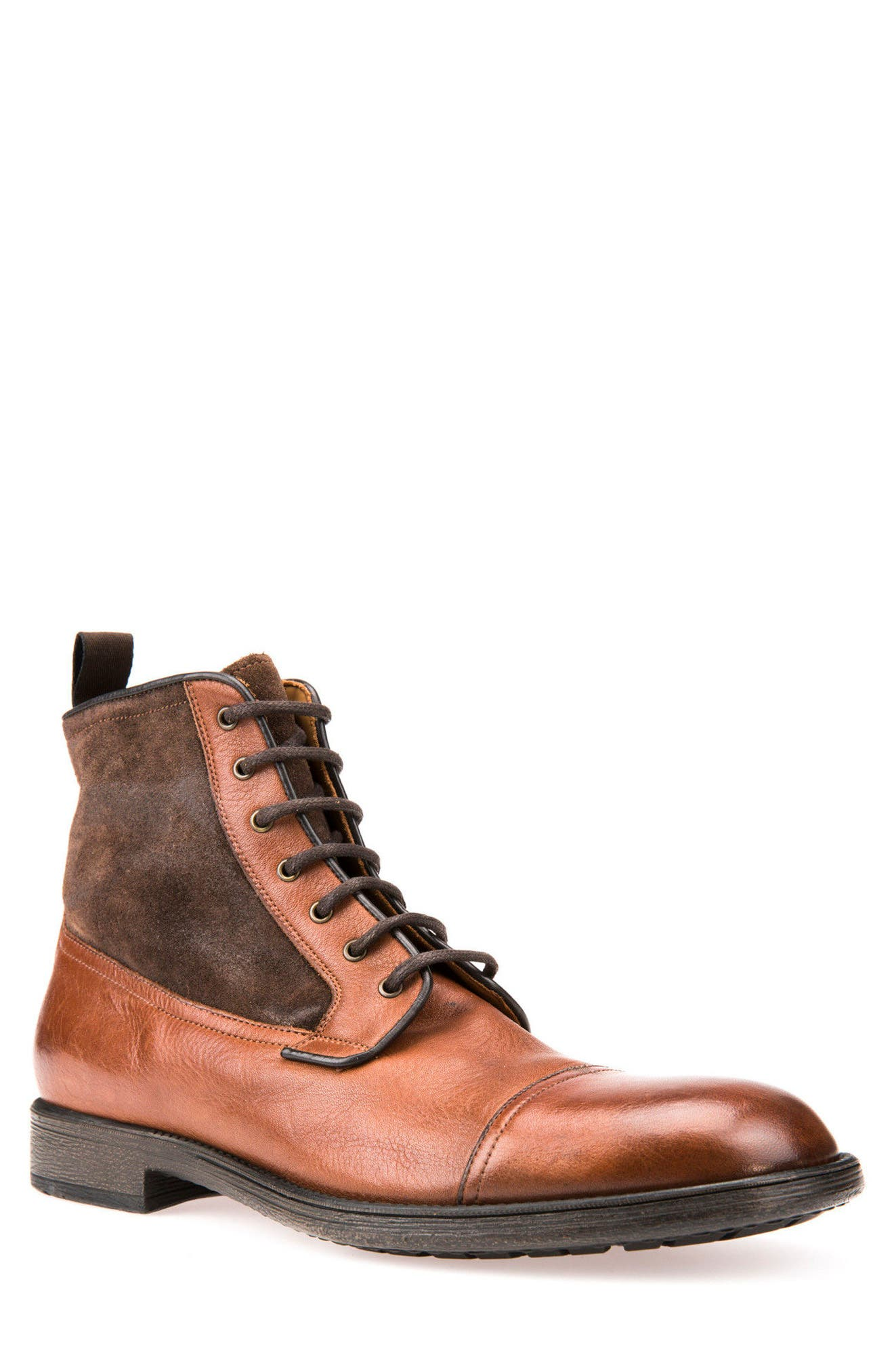 Jaylon 12 Cap-Toe Boot,                         Main,                         color, Ebony