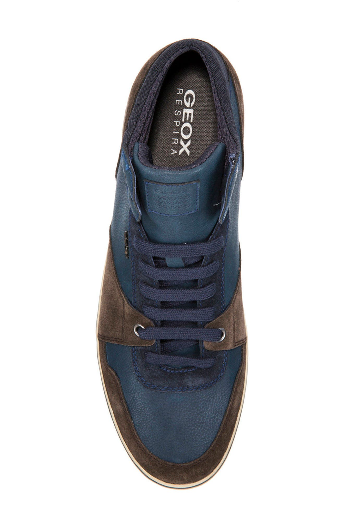 Box 29 High Top Sneaker,                             Alternate thumbnail 5, color,                             Dark Coffee/ Navy