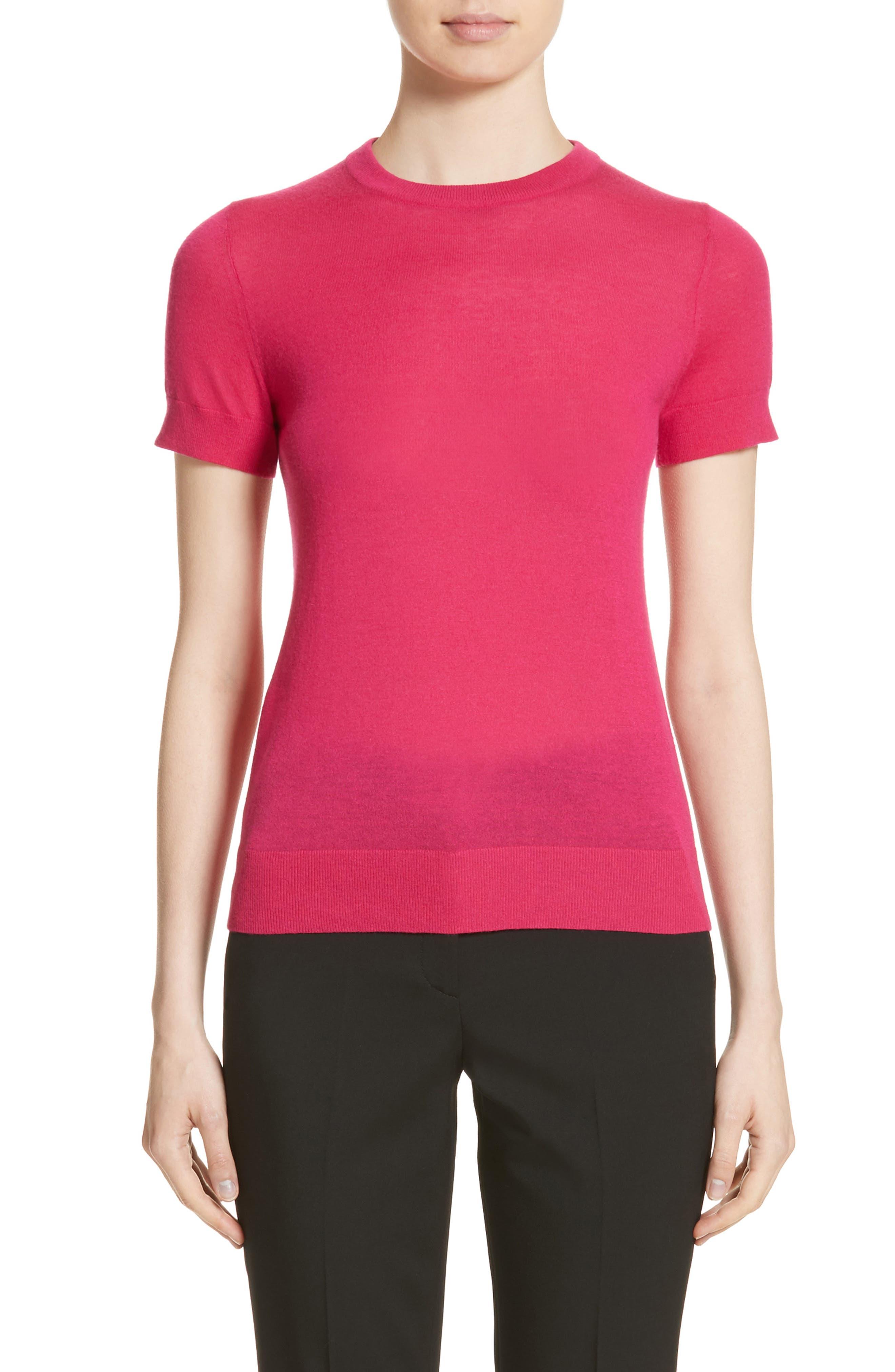 Cashmere Sweater,                         Main,                         color, Magnolia