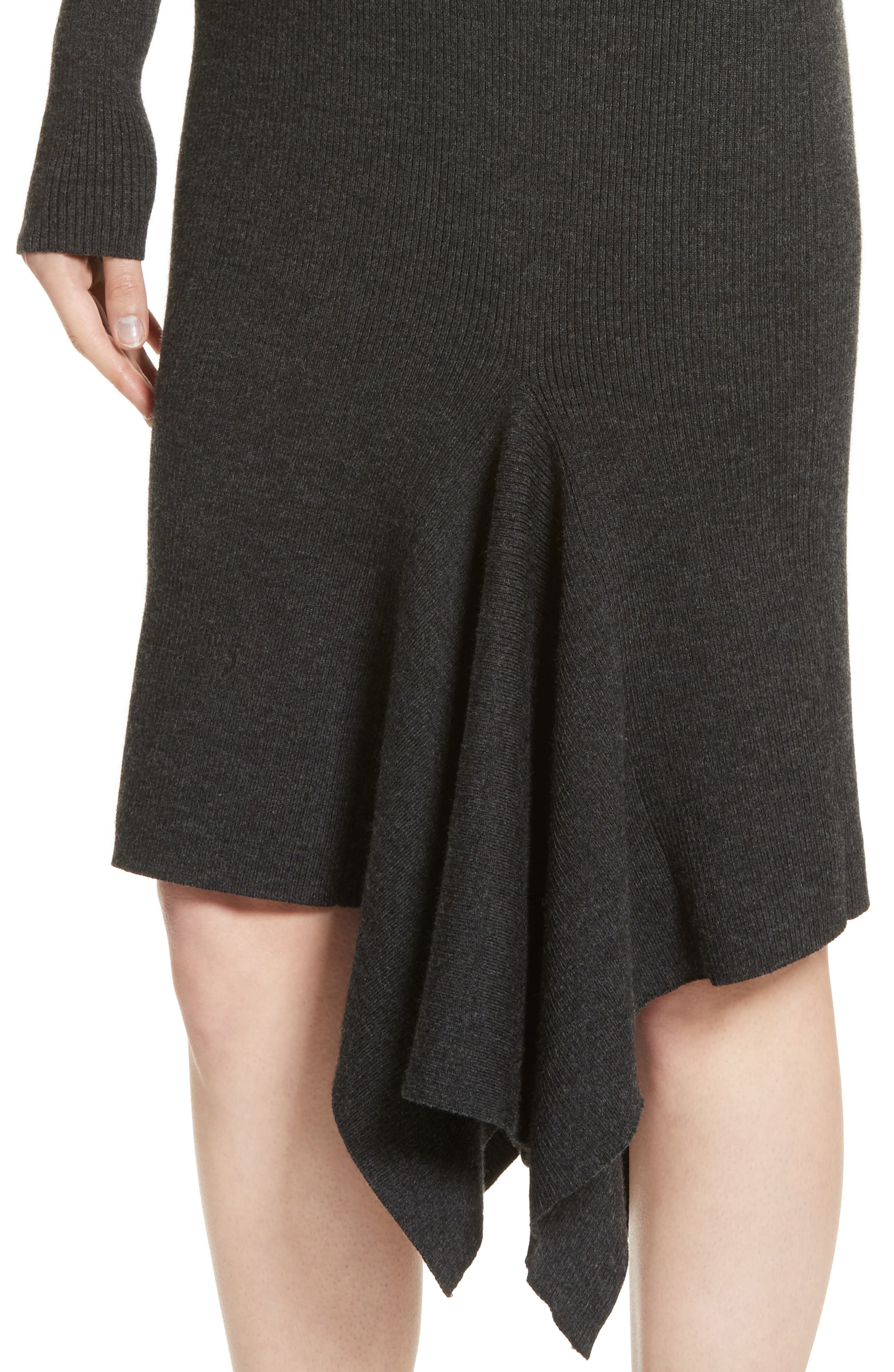 Alternate Image 4  - Michael Kors Merino Wool Blend Handkerchief Hem Dress