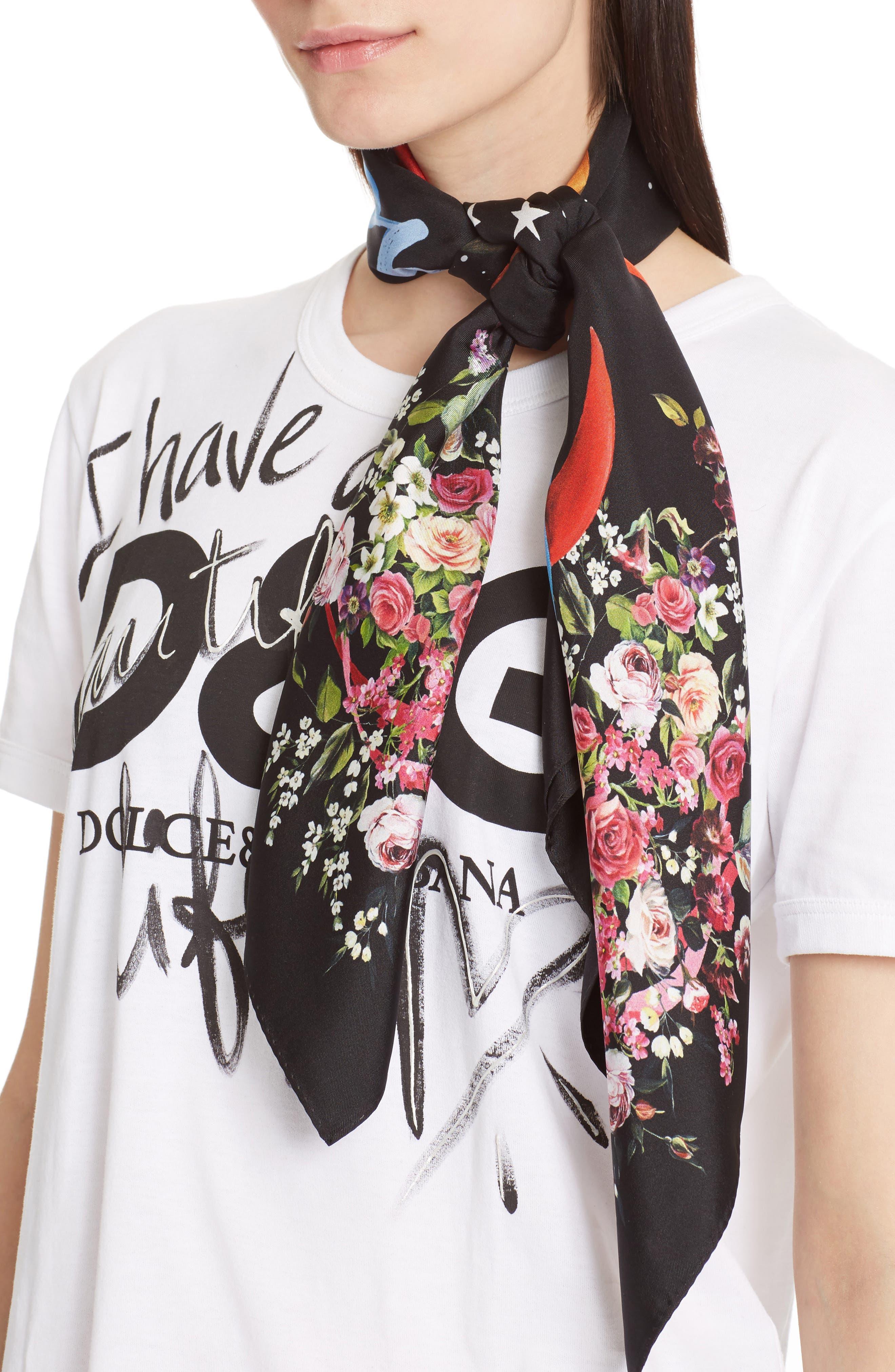 Dolce&Gabbana Astro Print Silk Scarf