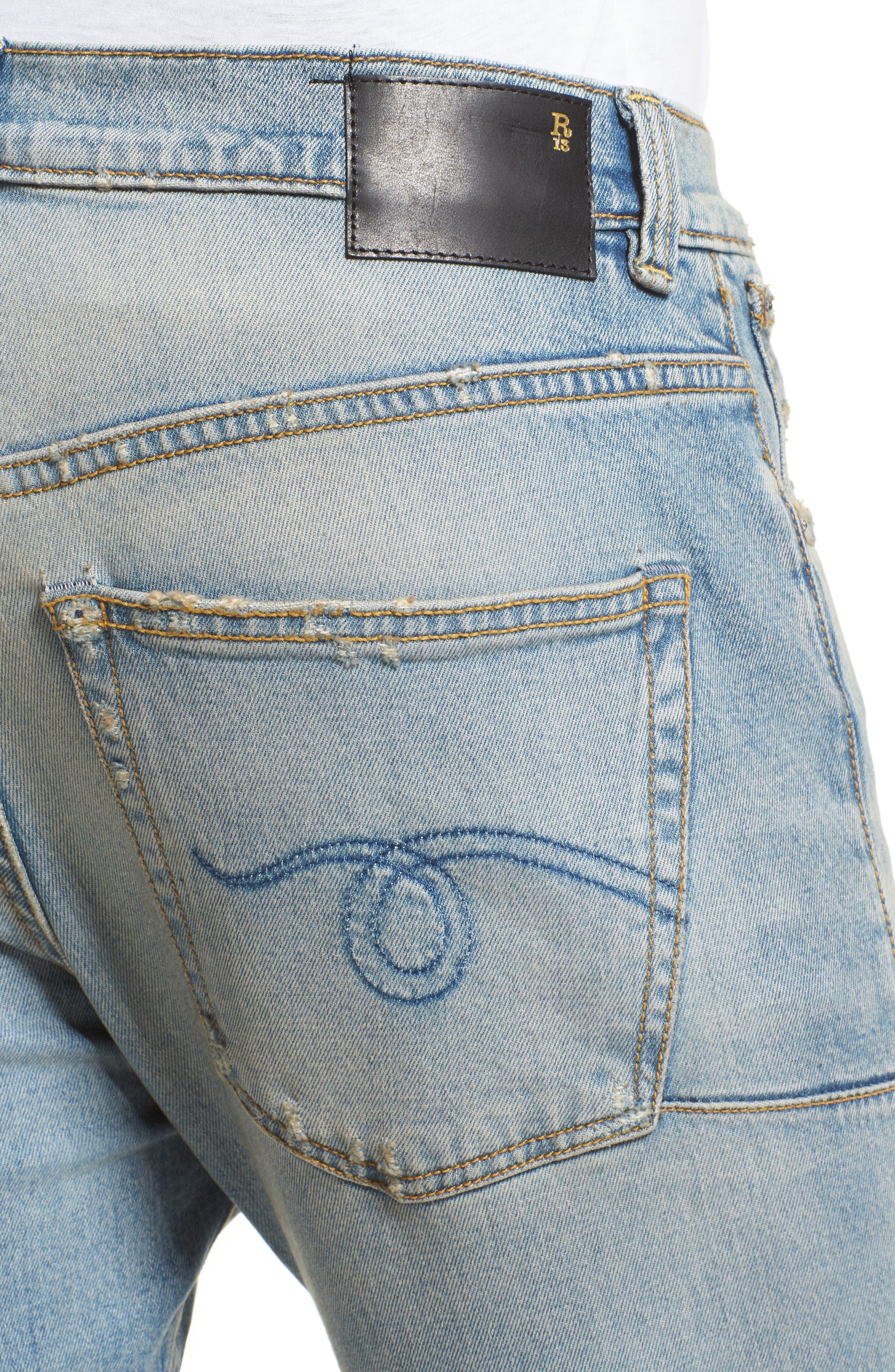 Alternate Image 4  - R13 Boy Clean Jeans (Leyton)