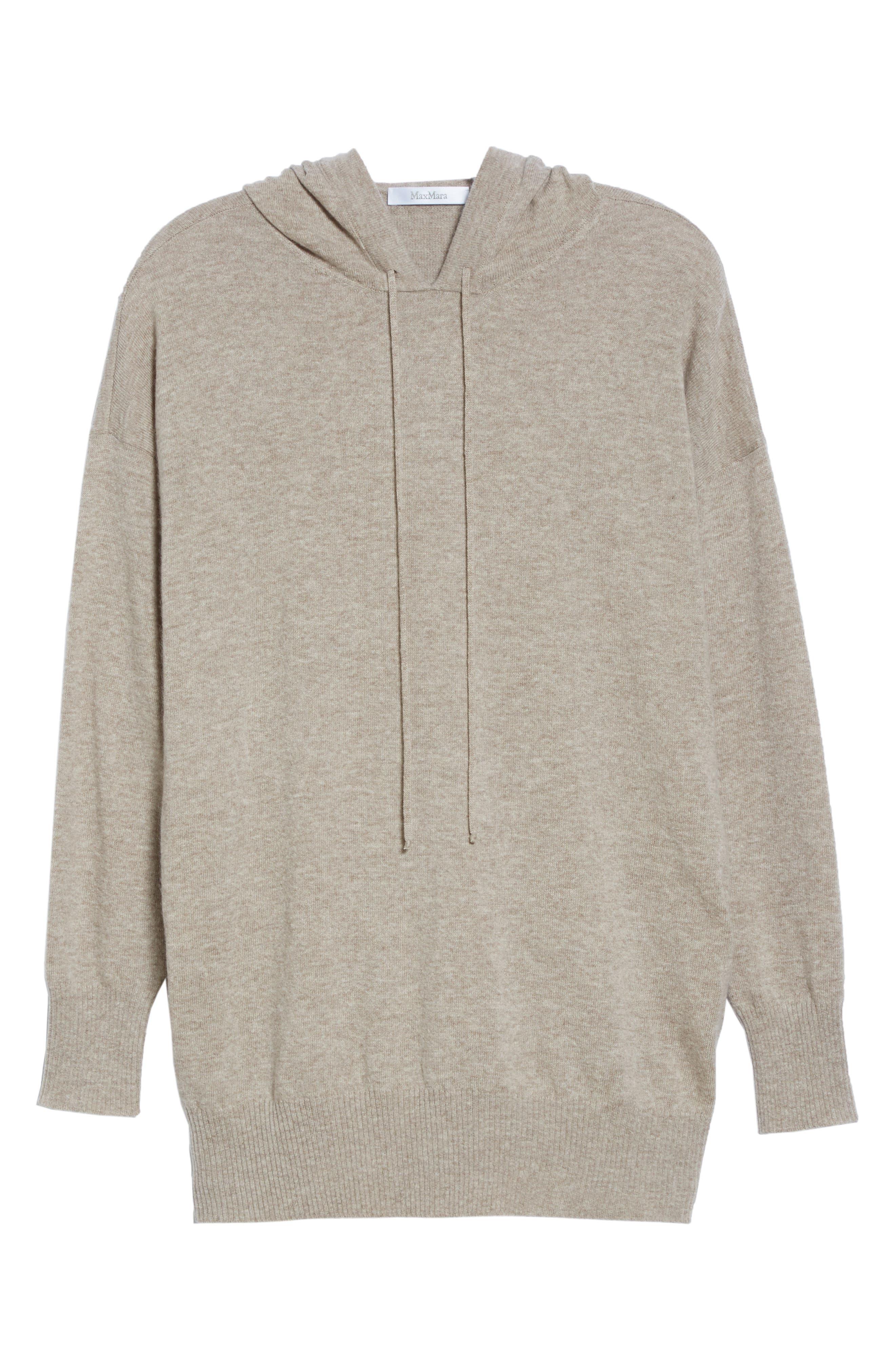Alternate Image 6  - Max Mara Nitra Wool & Cashmere Hooded Sweater