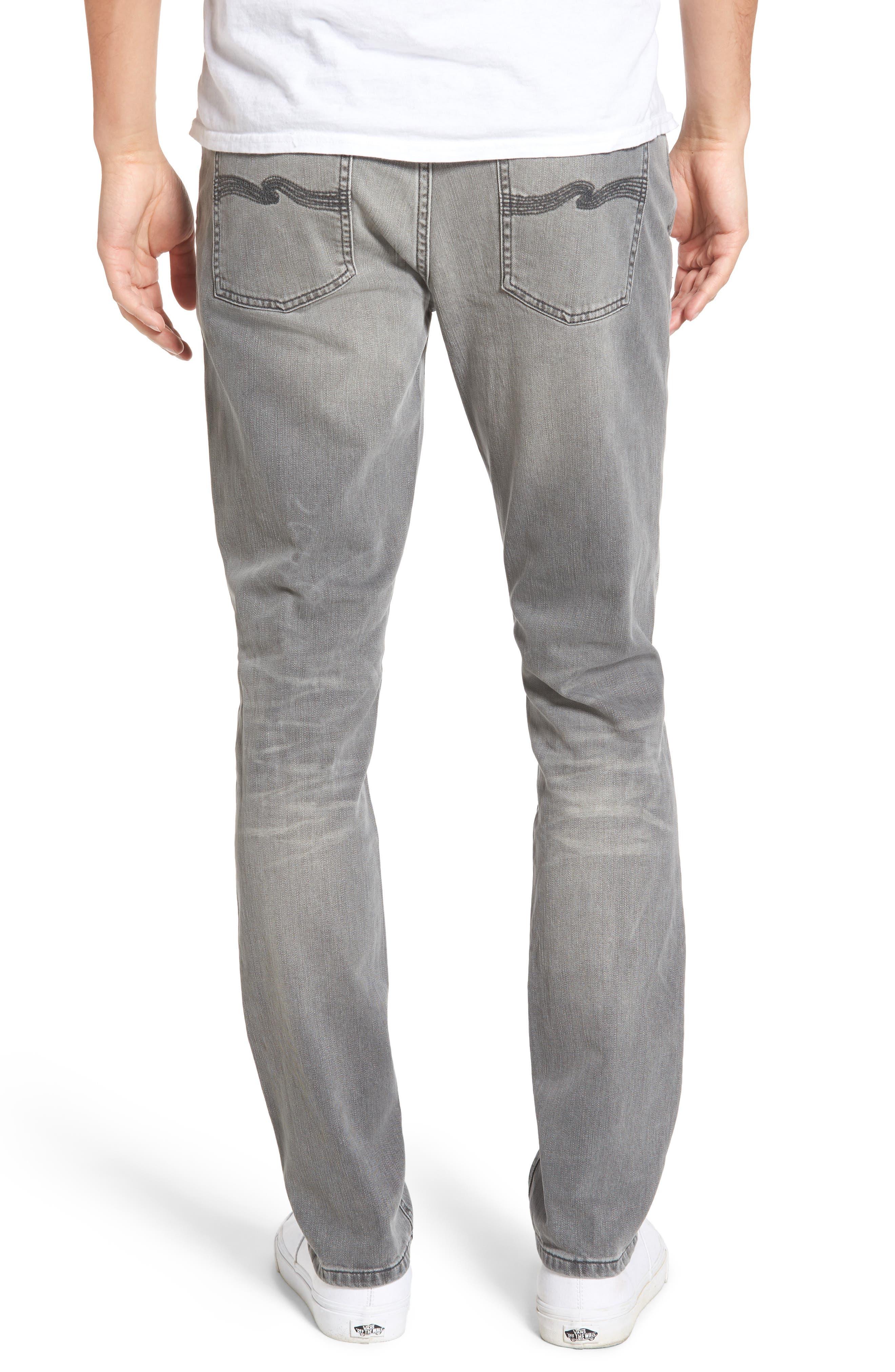 Alternate Image 2  - Nudie Jeans Lean Dean Slouchy Skinny Fit Jeans (Grey Ace)