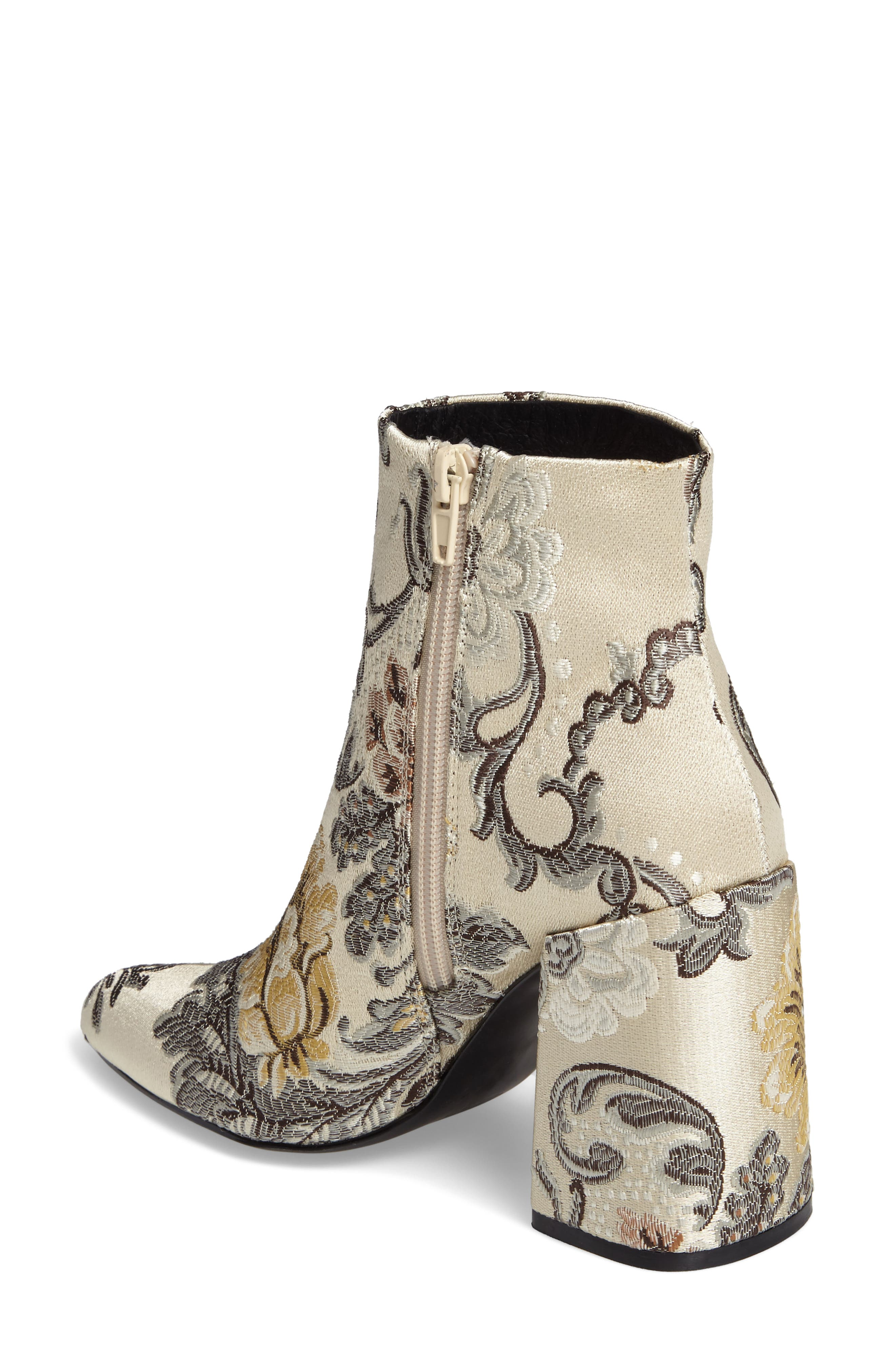 Emmy Brocade Bootie,                             Alternate thumbnail 2, color,                             Beige