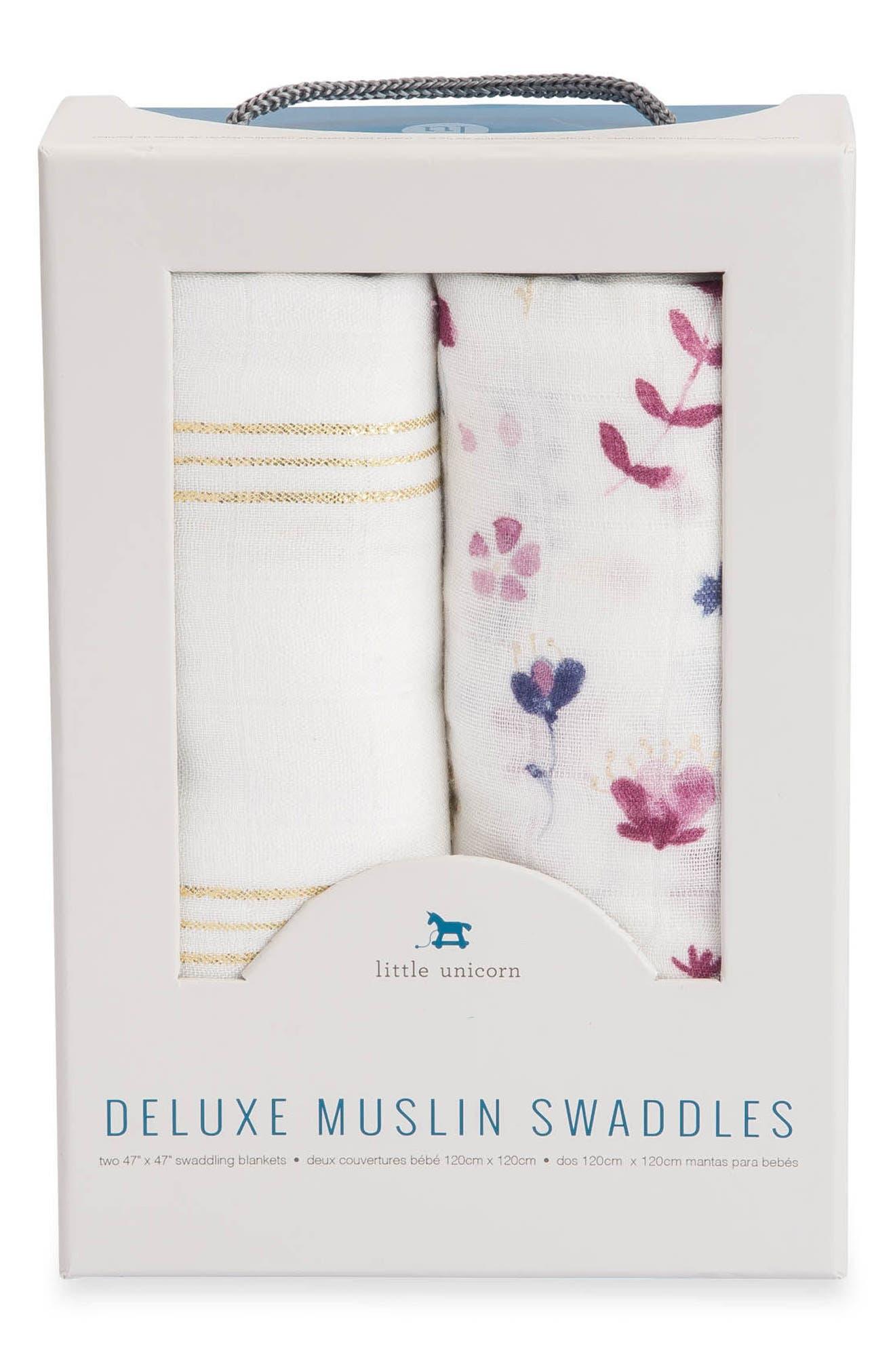 2-Pack Muslin Swaddle Blanket,                             Alternate thumbnail 2, color,                             Fairy Garden