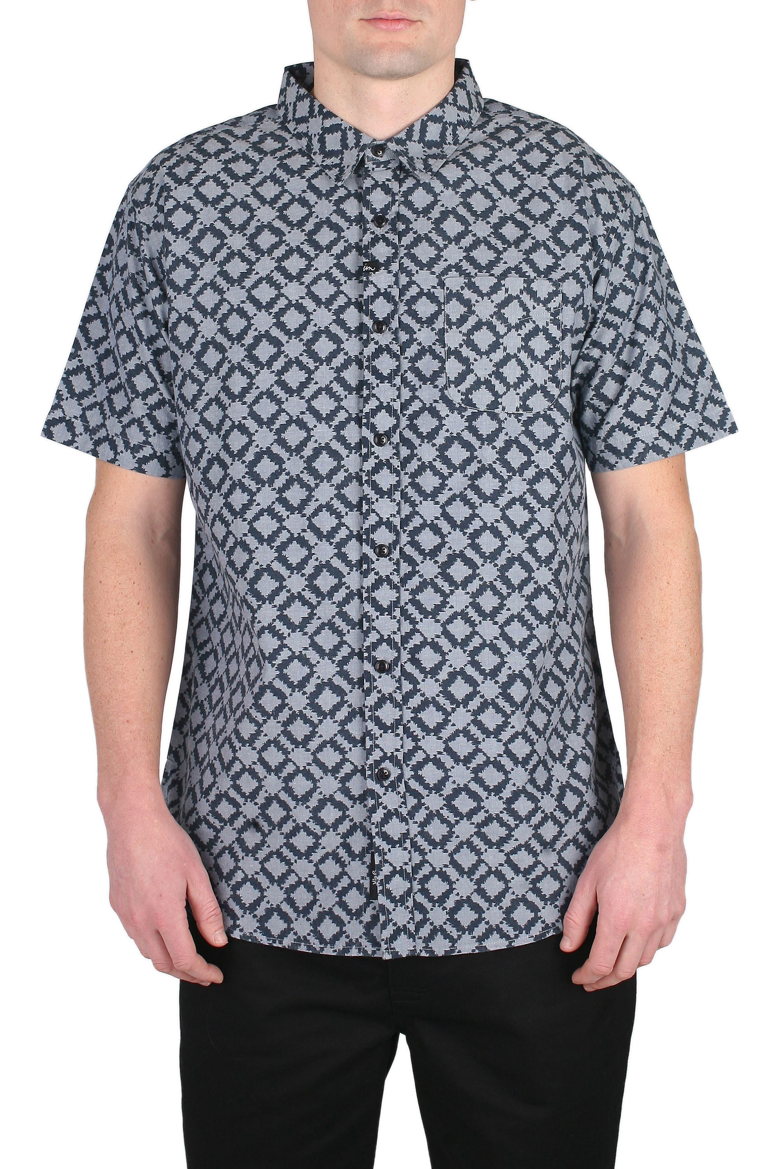 Mezcal Print Shirt,                         Main,                         color, Indigo