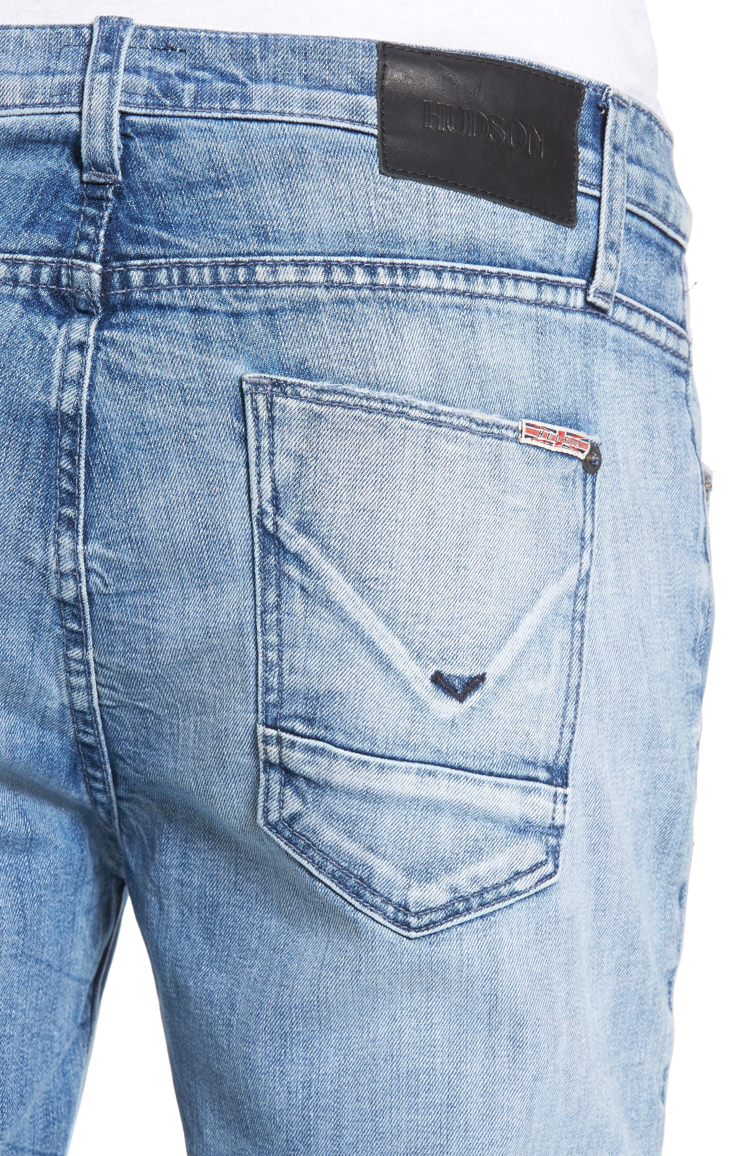Vaughn Biker Skinny Fit Jeans,                             Alternate thumbnail 4, color,                             No Remorse