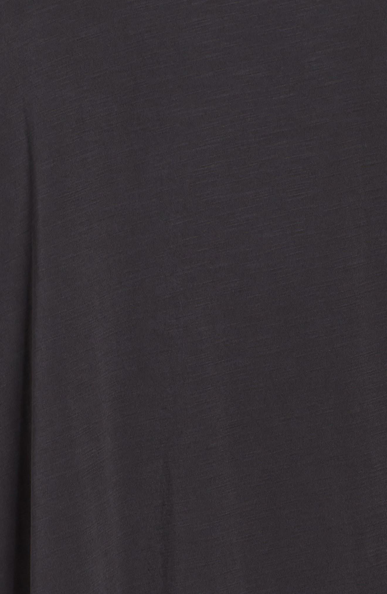 Boardwalk Convertible Jersey Dress,                             Alternate thumbnail 5, color,                             Washed Black