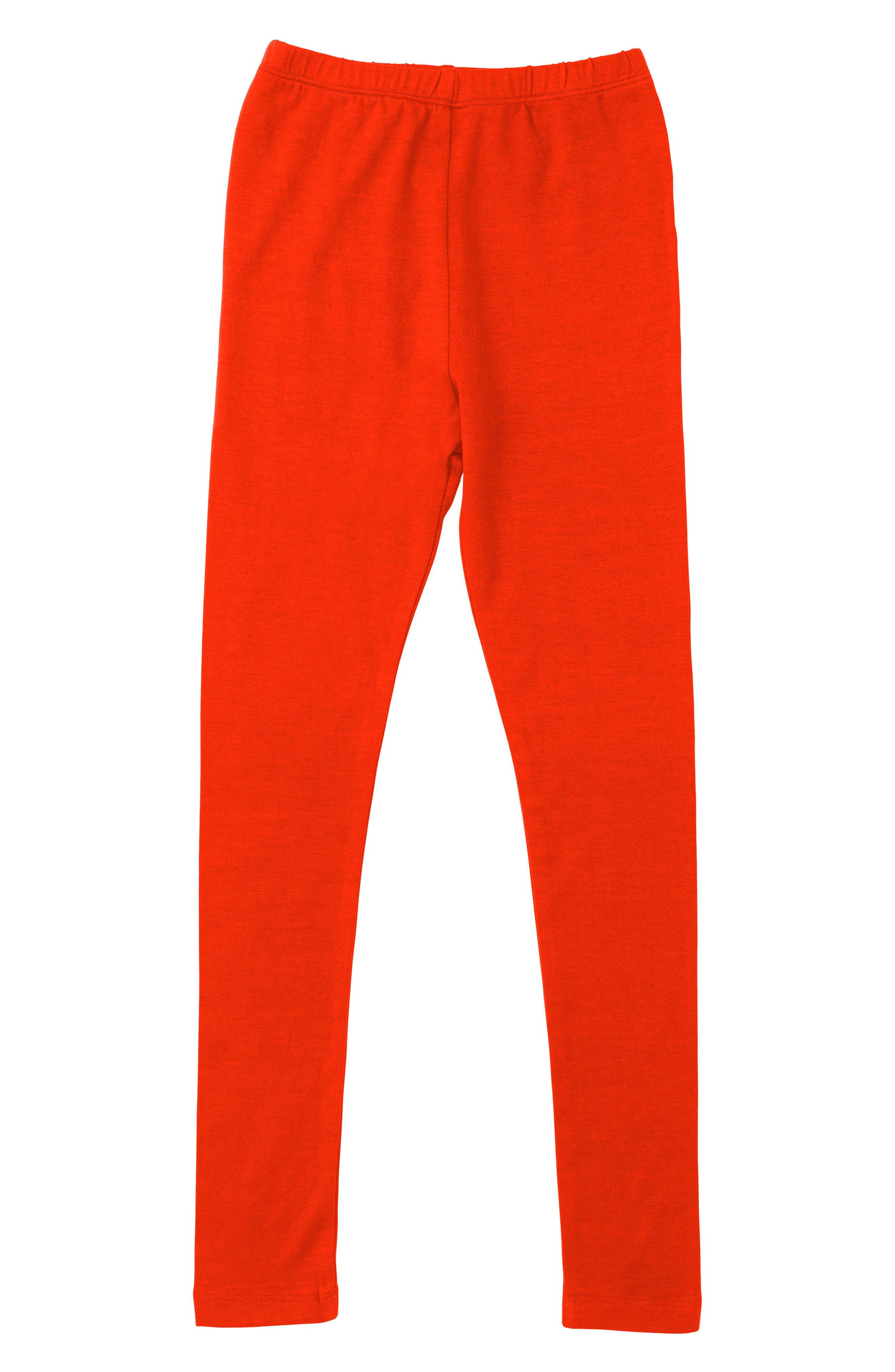 Leggings,                         Main,                         color, Coral